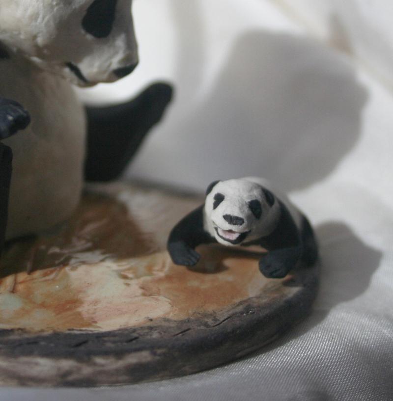 detail,  The Sneezing Baby Panda