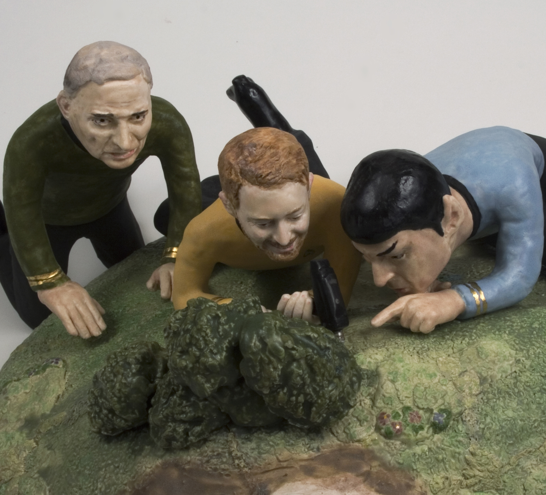 detail,  Untitled Decorative Object #2.2 Starring Thom Yorke, Leonard Nimoy and Ralph Nader, with Special Guest George W.   2007