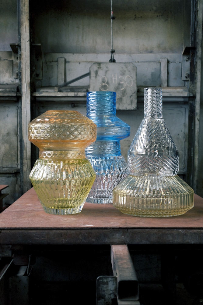 """Vases """"Variation"""" - Patricia Urquiola - Manufacture de Baccarat"""