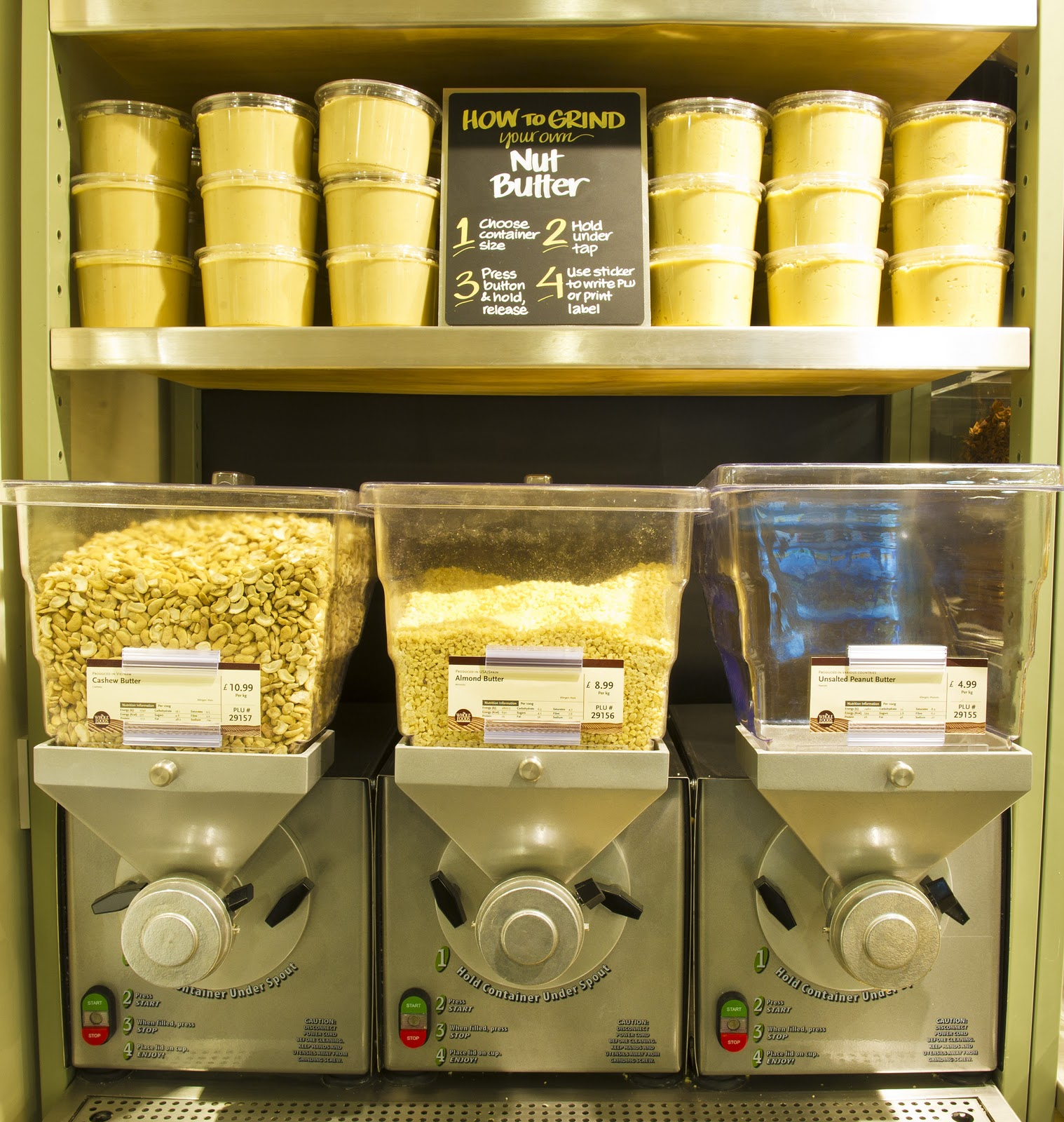 The famous peanut butter machine!
