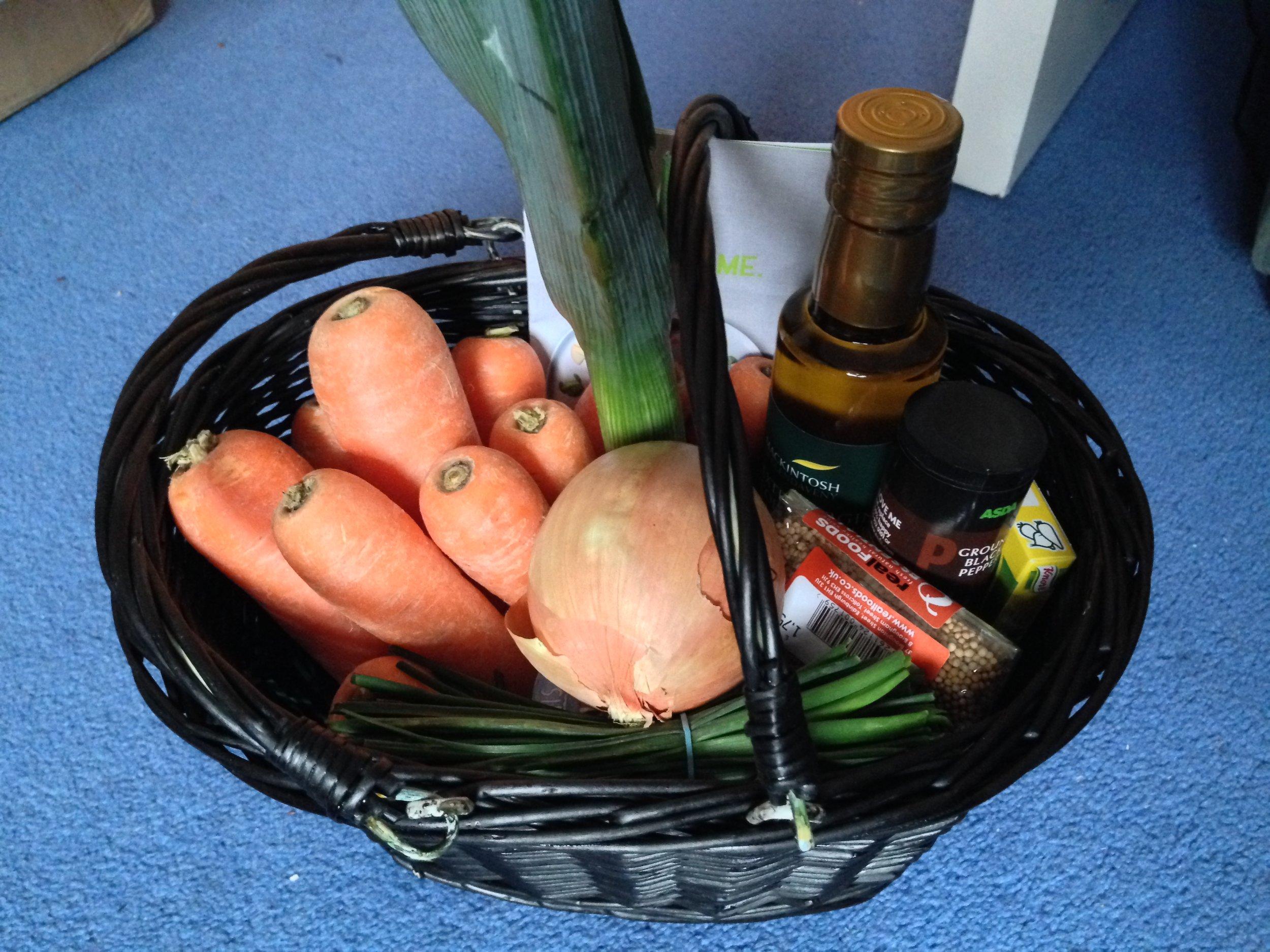 Basket of goodies from Greener Scotland - eat in season!