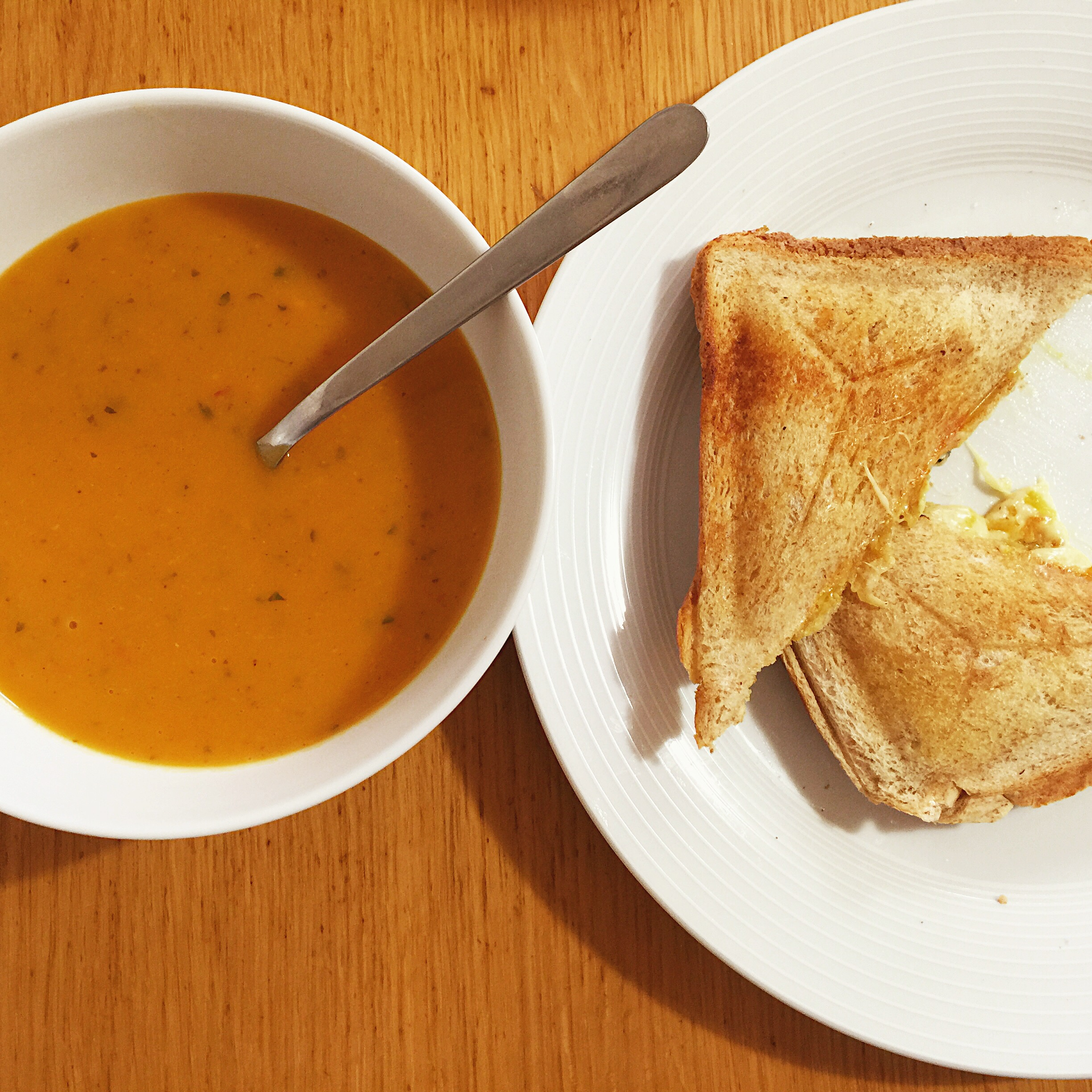 Sweet potato, coconut, lime and coriander soup