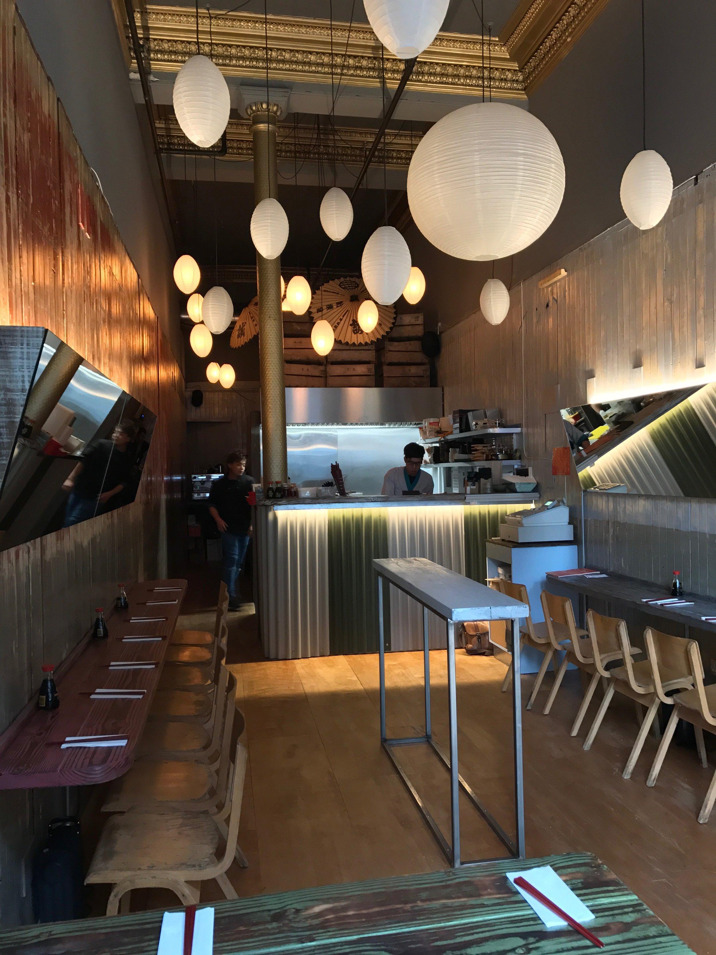 Temaki Glasgow Hope Street inside Japanese restaurant cafe