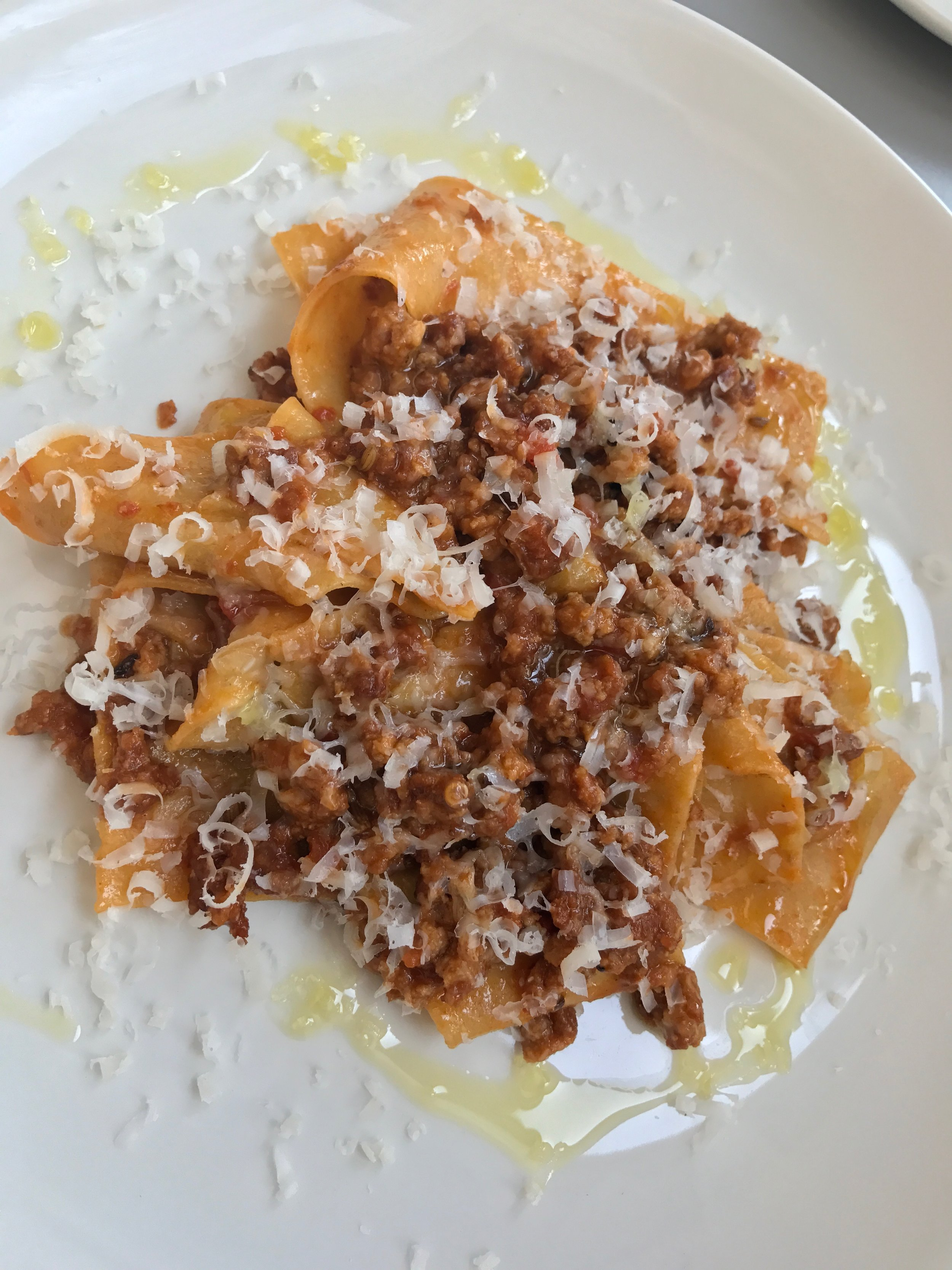 Pork and fennel ragu pappardelle