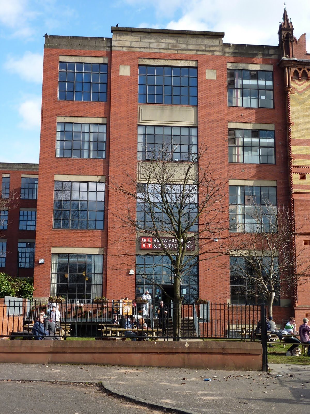 west brewery on glasgow green templeton building