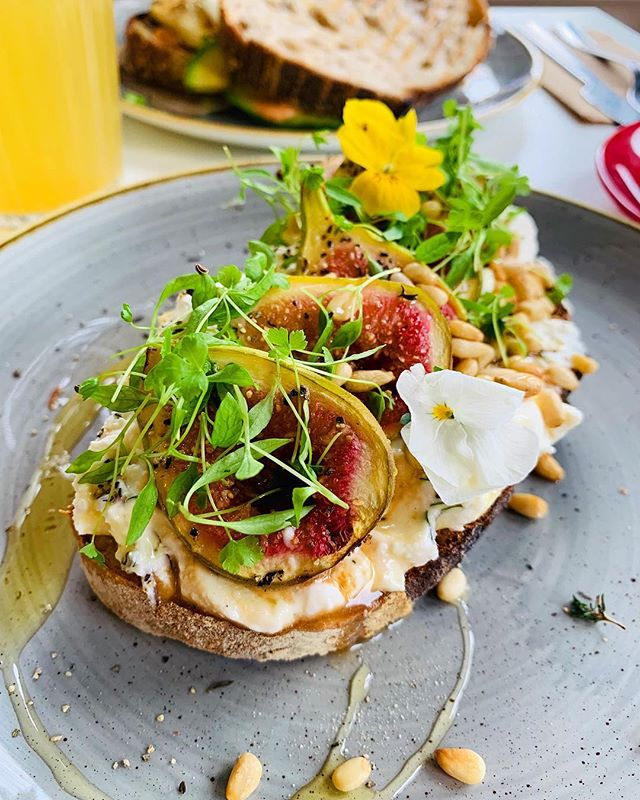 Figs, ricotta, thyme, honey & pine nuts on toast at Mesa. I just wrote a blog post about the newest brunch spot in Glasgow! Link in profile. Have you been?  #glasgow #theglasgowfoodblog #food #foodpics #foodporn #foodphotography #glasgowfood #instafood #foodblog #foodblogger #theglasgowfoodcompany #peoplemakeglasgow #visitscotland #scotland #scotlandisnow @mesa_glasgow #mesa