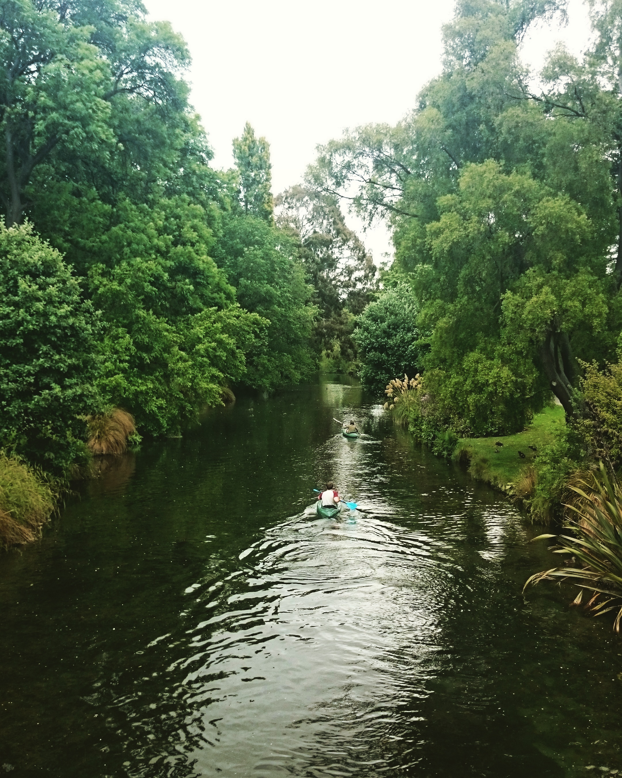 Kayaking down the Avon River