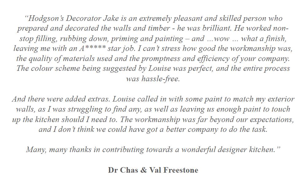 Hodgson's Decorators Homeowner Testimonial - Chas Freestone.png