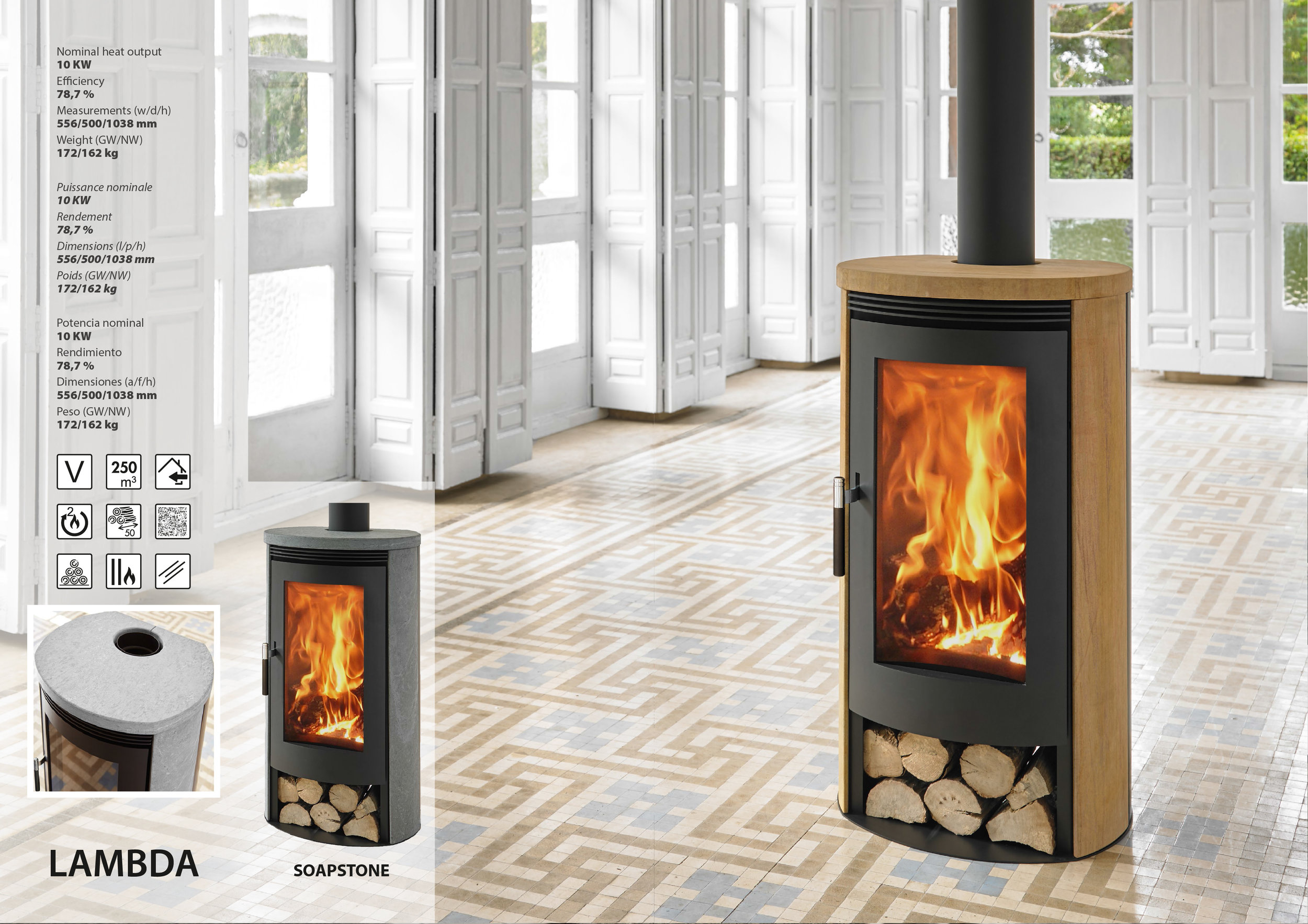 Lambda - Denia wood-burning stoves