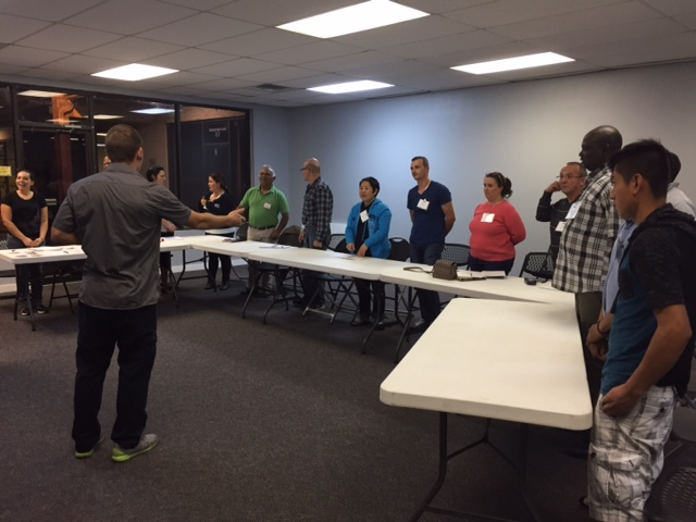 First meeting of ESL class at Christian Family Chapel, Jacksonville, FL