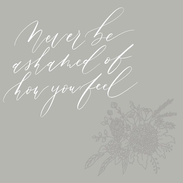 A little Monday reminder for the week. ⠀⠀⠀⠀⠀⠀⠀⠀⠀ ⠀⠀⠀⠀⠀⠀⠀⠀⠀ Never be ashamed of how you feel. Own your feelings and not apologise for it. ⠀⠀⠀⠀⠀⠀⠀⠀⠀ ⠀⠀⠀⠀⠀⠀⠀⠀⠀ #moderncalligraphy #digitalcalligraphy #floralillustration #writtenquotes #quoteoftheday #thegoodquote #modernekalligrafie #zitate #hamburg #procreatelettering #ipadlettering