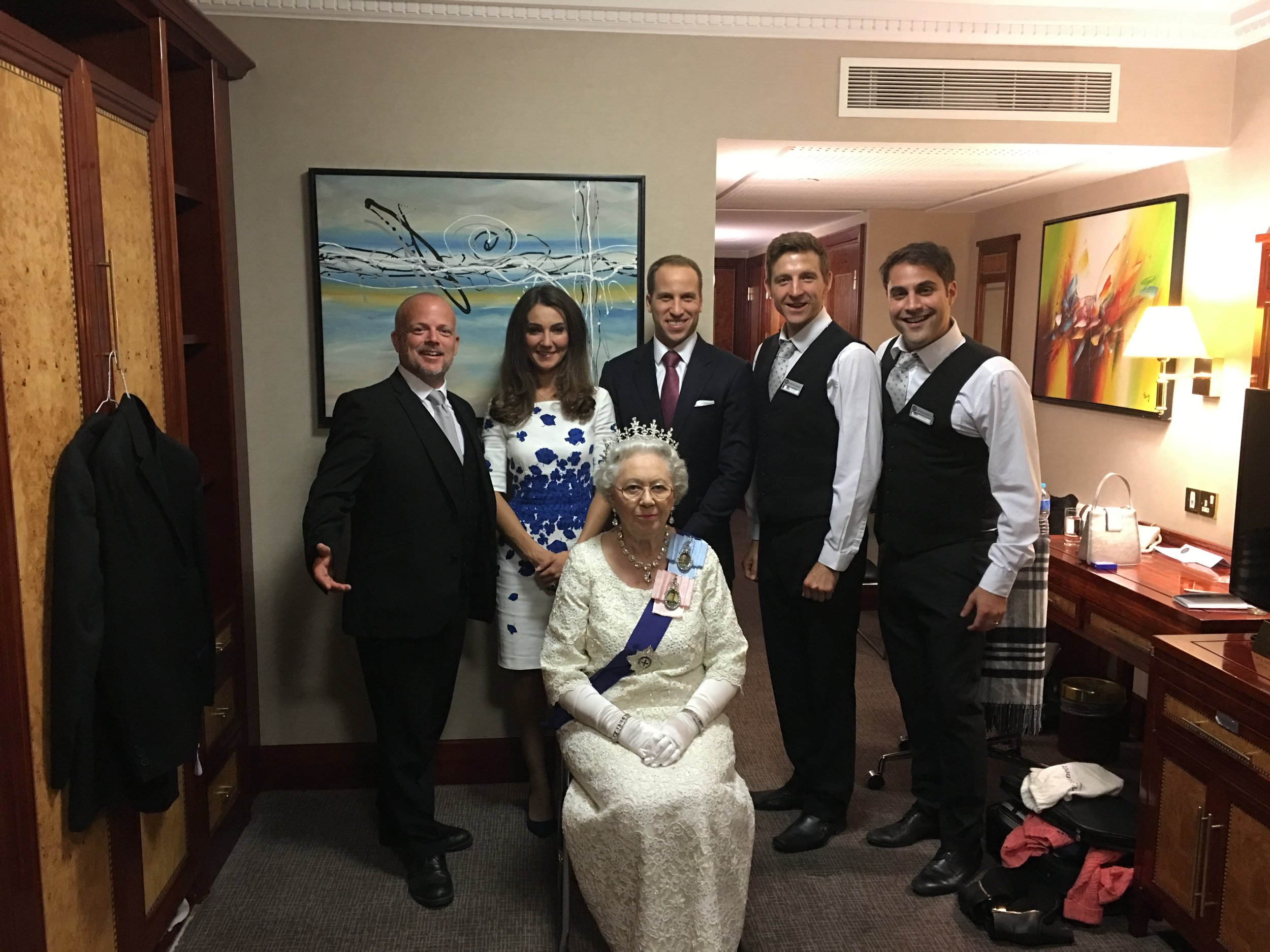 The Three Waiters and the fake Royals
