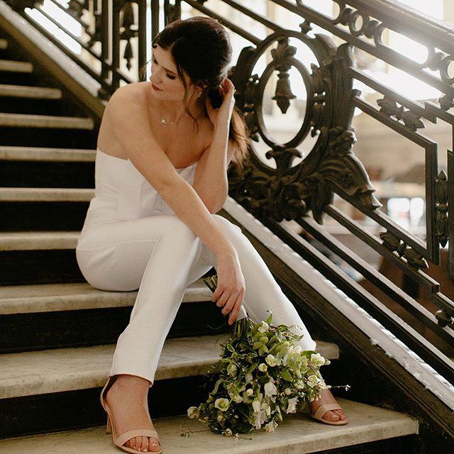 The luxury of C O M F O R T // on your wedding day is a blessed thing . . . . . . #bridalsuit #bridalseparates #bridaljumpsuit #relaxedbride #chillbride #bridalchic #bridaldesign