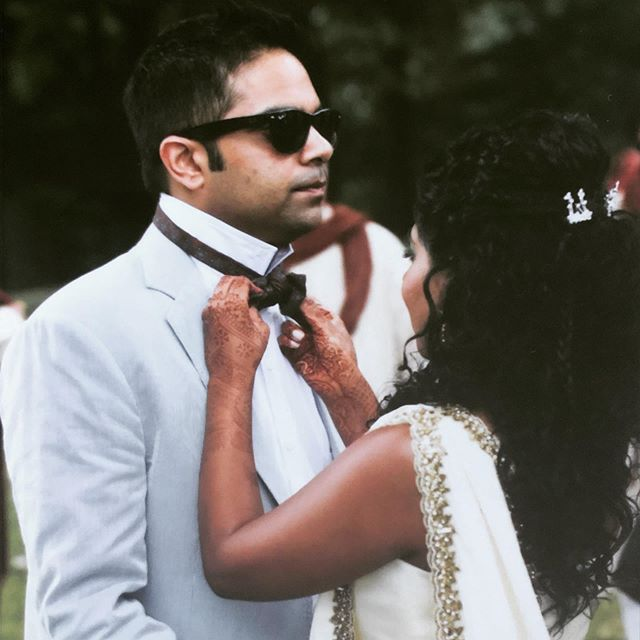 Happy N I N T H anniversary to this guy who still lets me tie his bow ties and gives me that same look when I ask him to breakdance // What?! We still got it! // 7.10.10 . . . . . #happywifehappylife #indianwedding