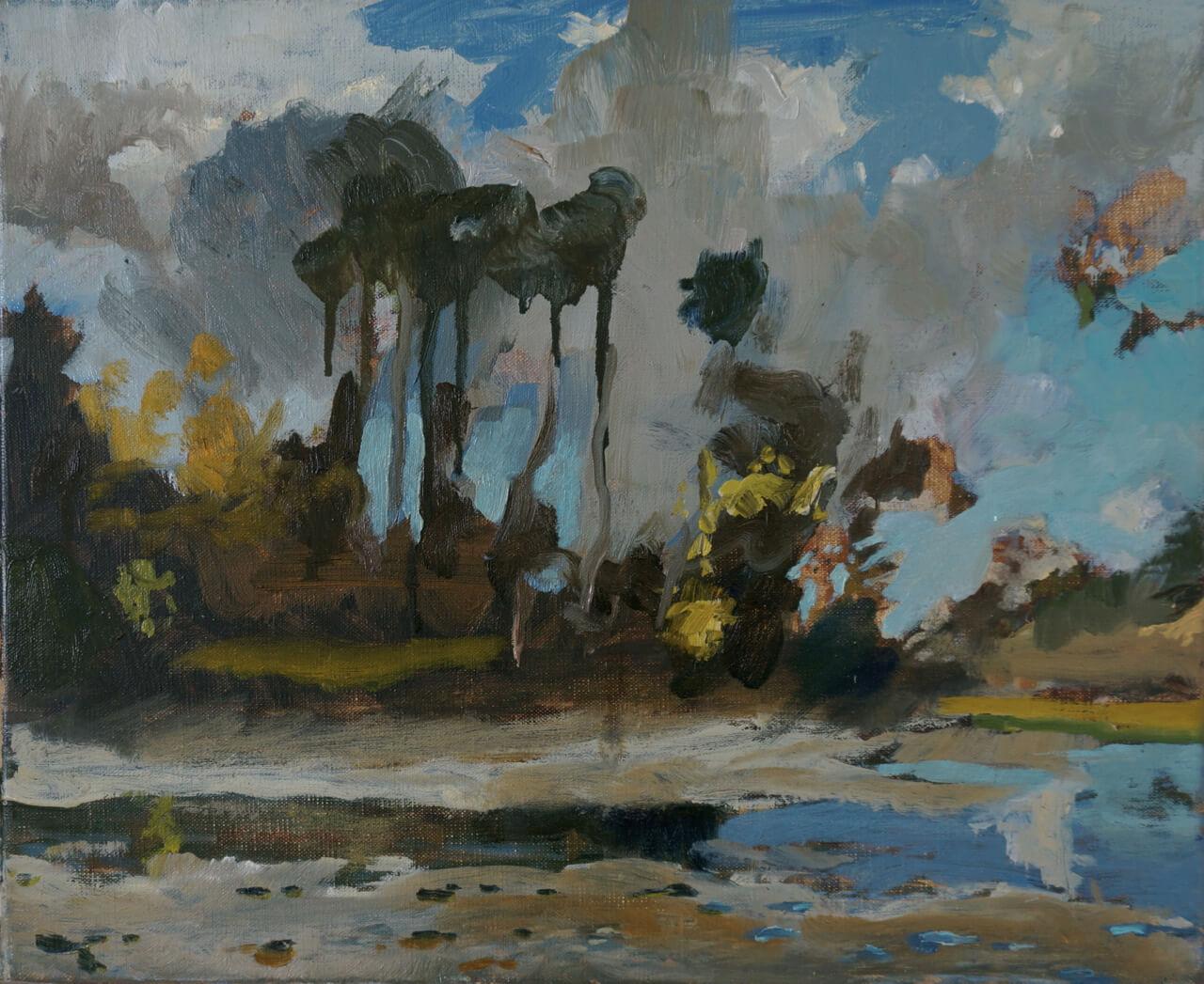 St Just in Roseland - Half Tide Autumn ( Oil on Linen ) 38 x 46 cm