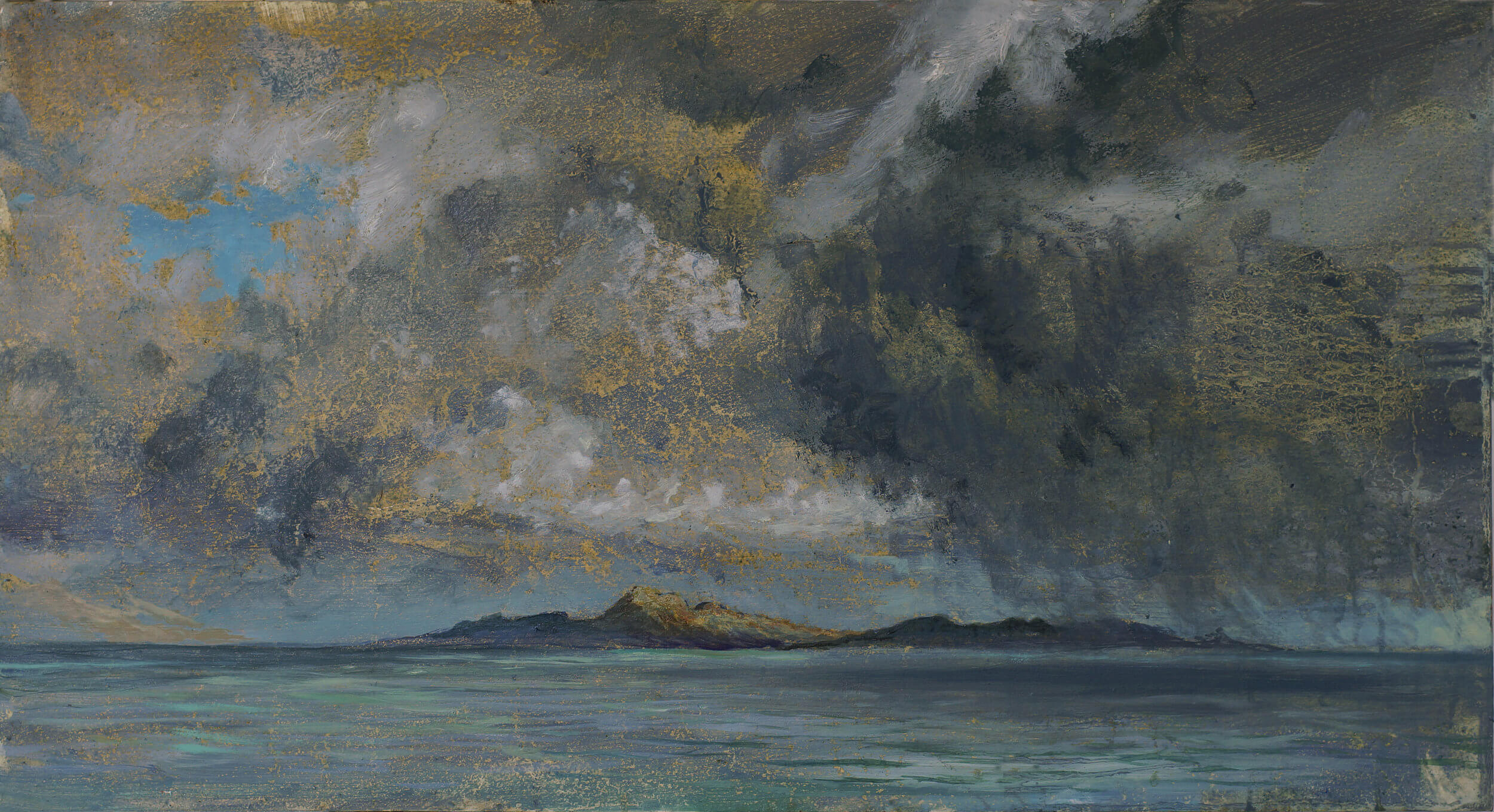 Colonsay Rain Approaching ( Oil on Panel ) 46 x 68 cm