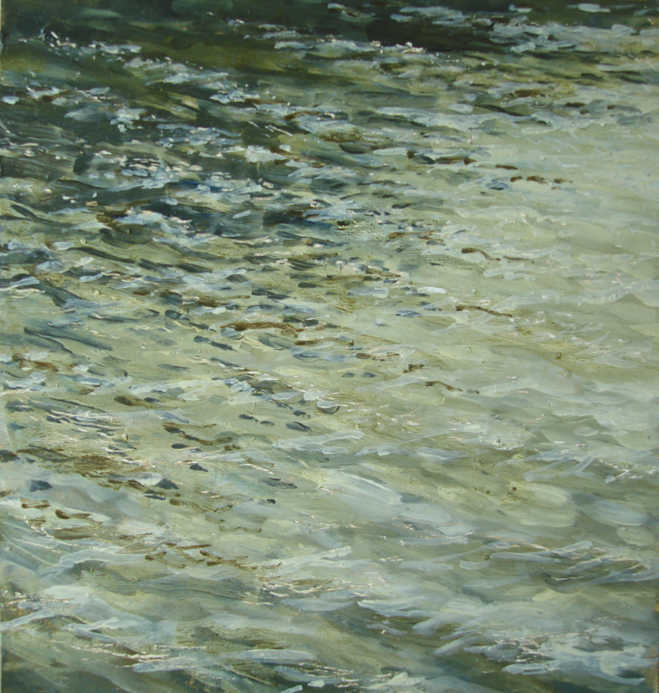 Evening Light Percuil River ( Oil on Panel ) 30 x 27 cm