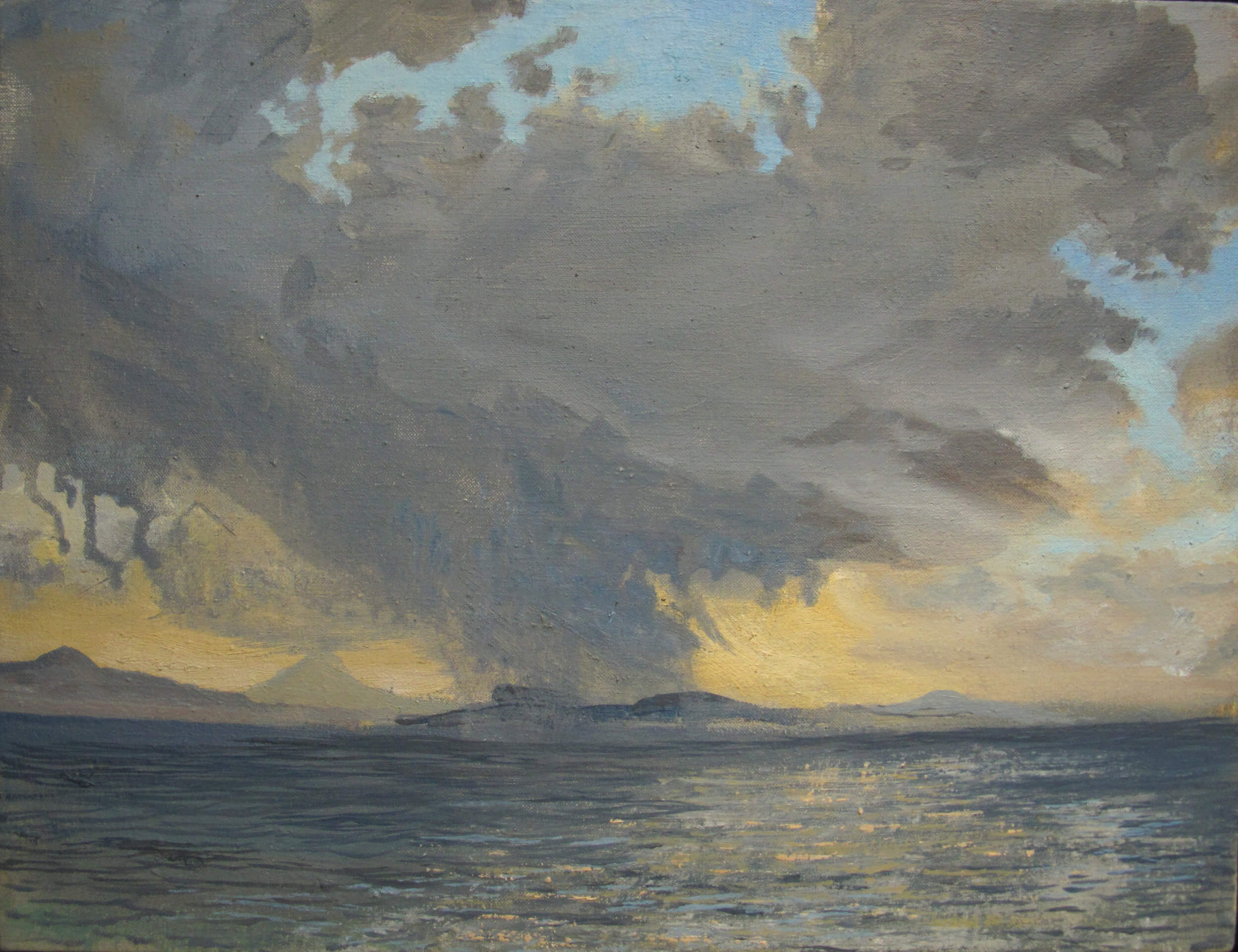 Colonsay Snow Storm ( Oil on Linen ) 36 x 46 cm