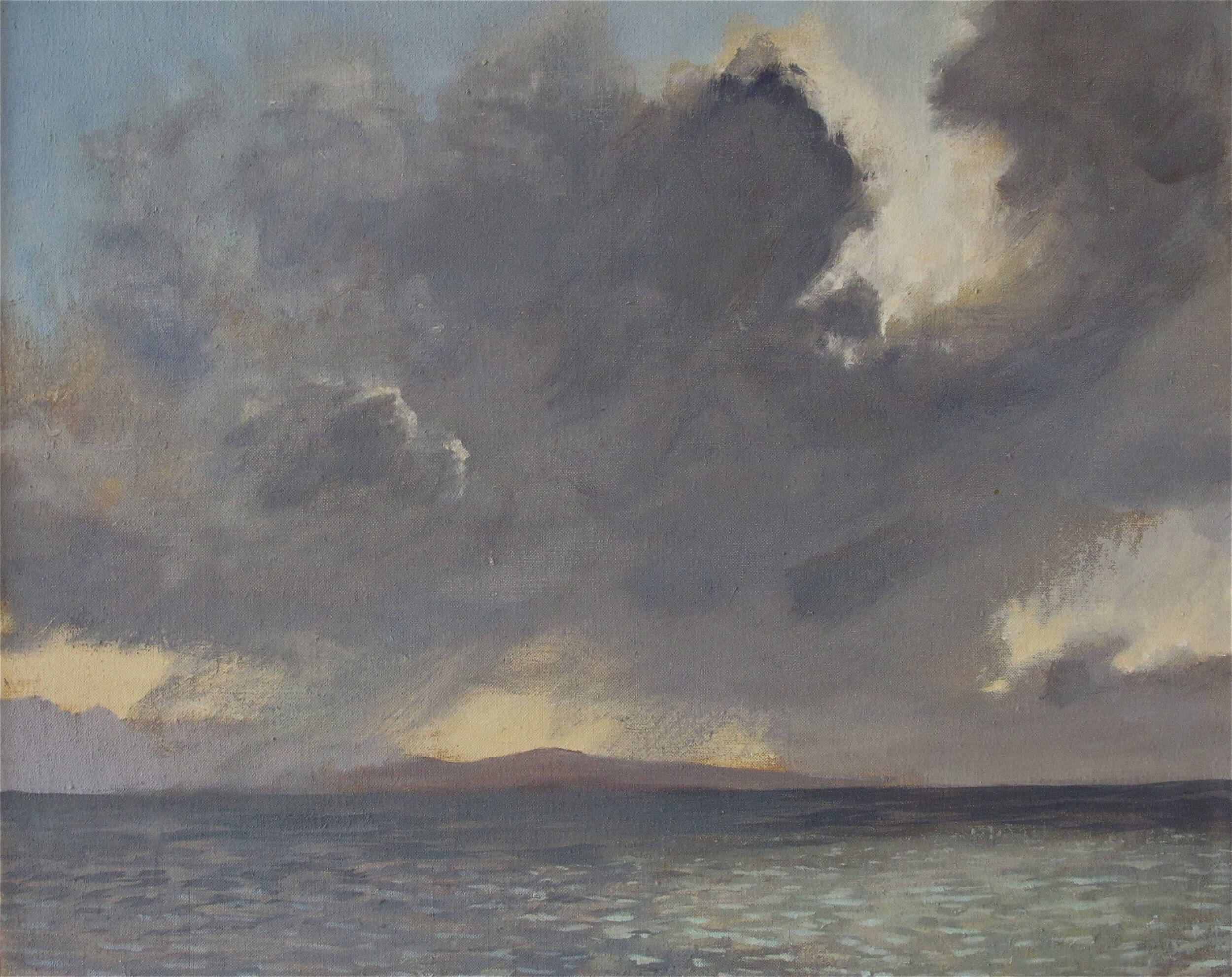 Colonsay Winter Storm Light, Before Snow ( Oil on Linen ) 40.5 x 50.5 cm