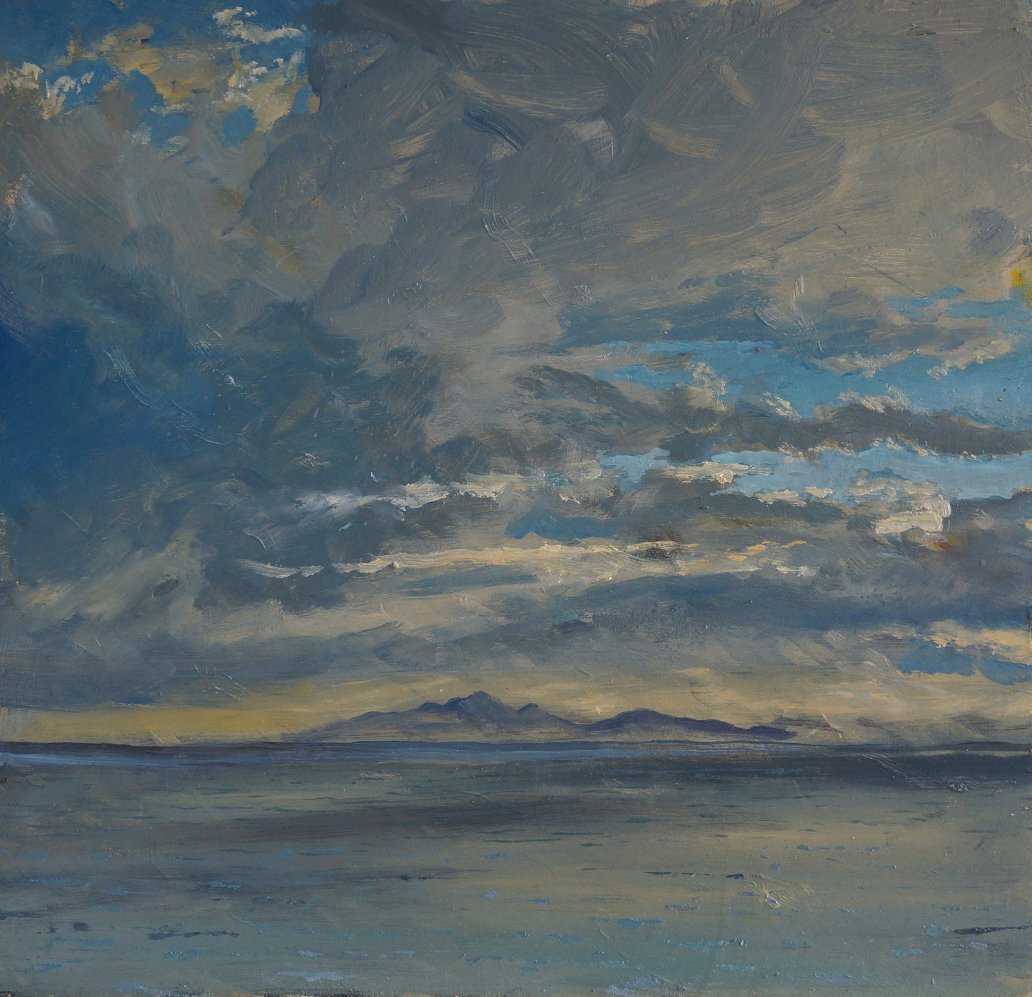 Colonsay Forged Evening Light ( Oil on Panel ) 44.5 x 45.5 cm