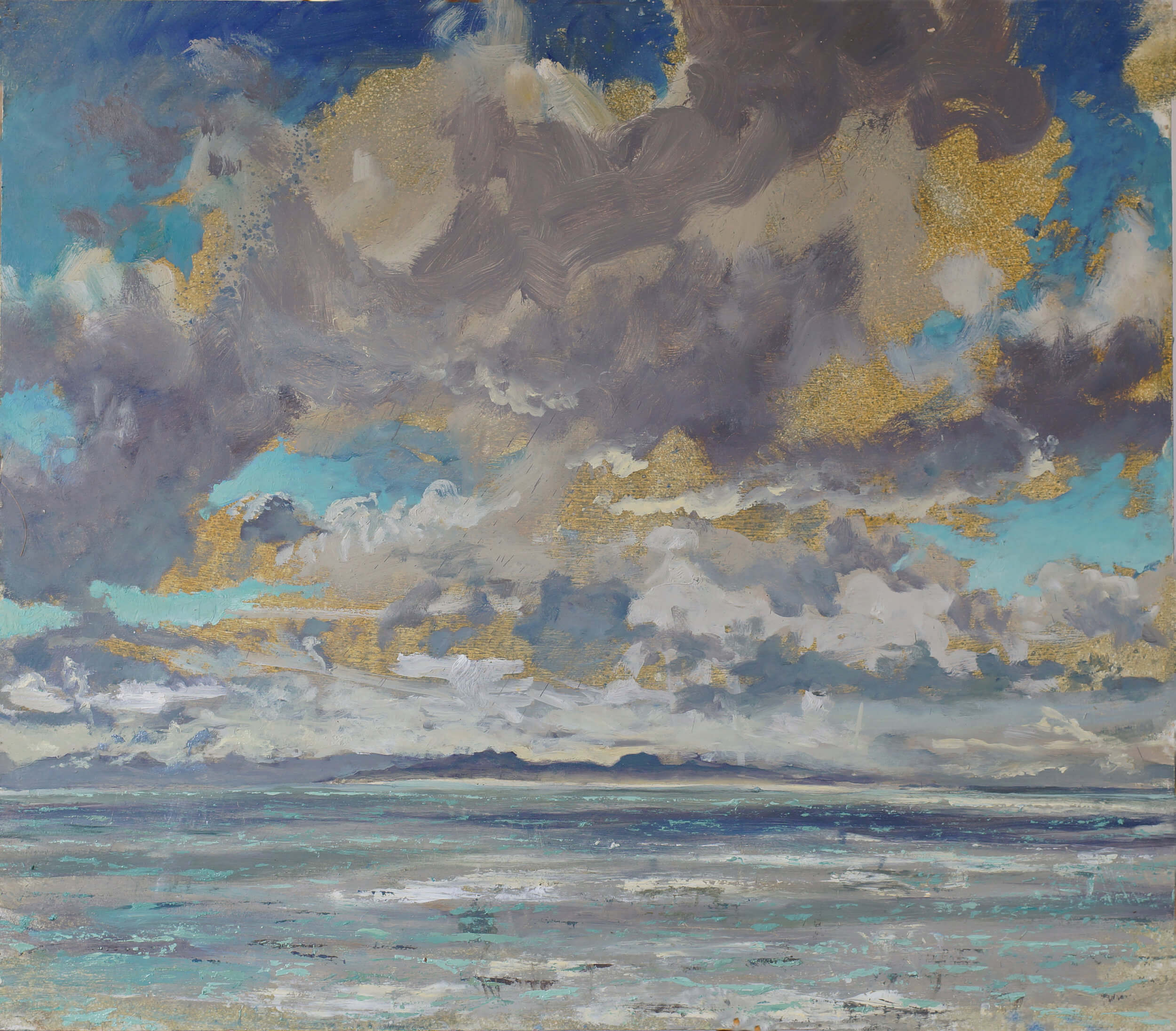 Colonsay High Cloud Autumn Morning ( Oil on Panel ) 75 x 86 cm