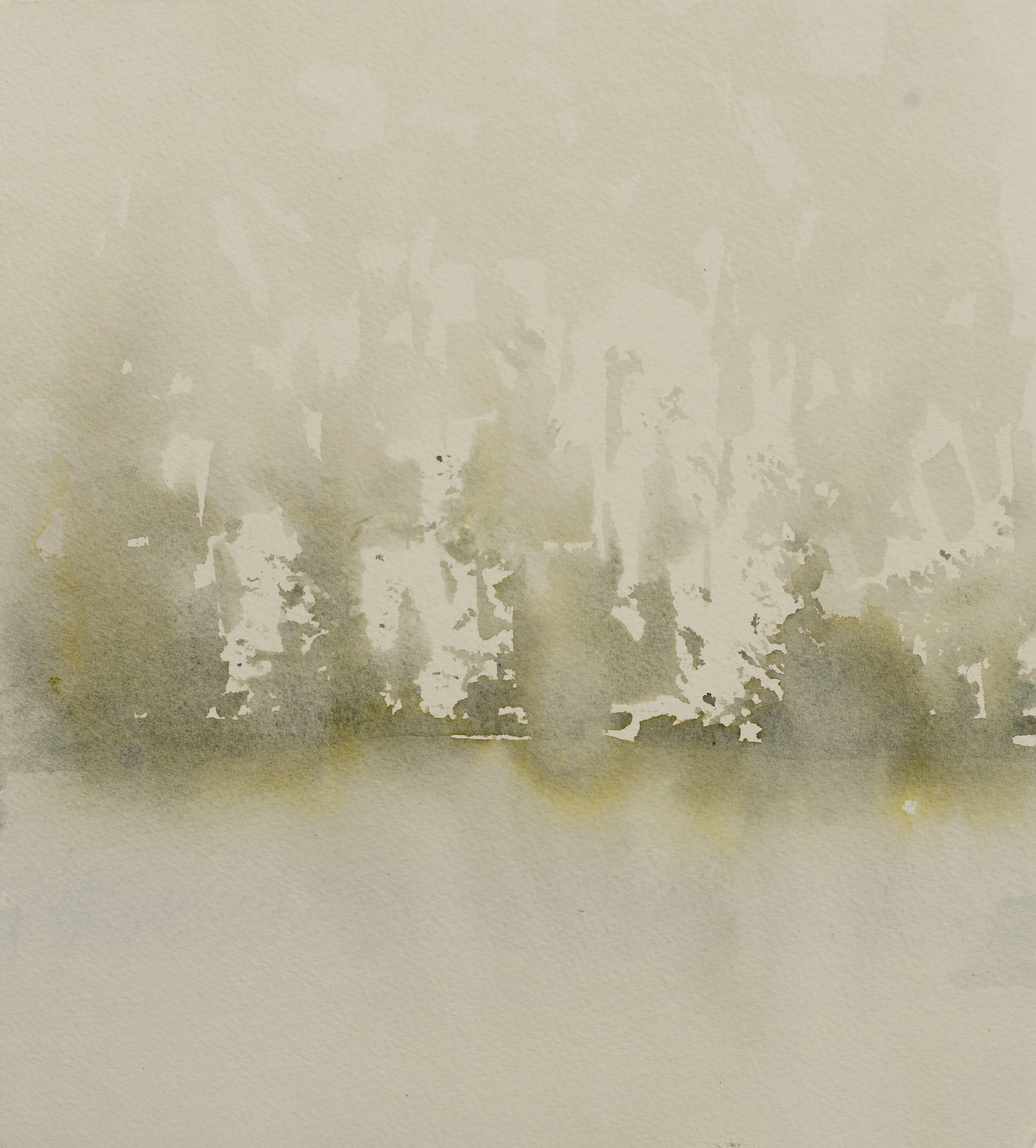 RHSK096 Matsubarako Lake Mist I ( Watercolour ) 30.5 x 28 cm