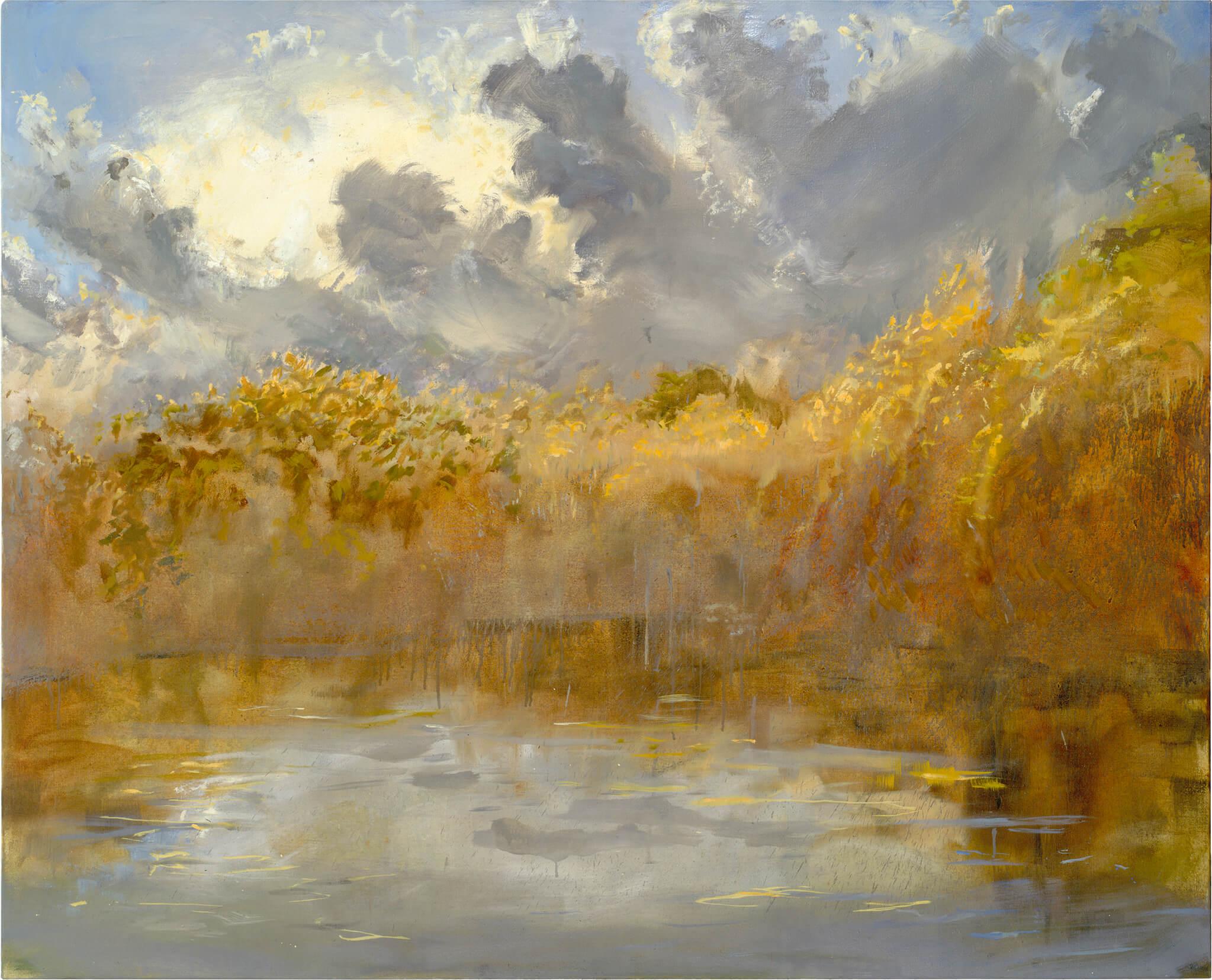 RHSK014 Matsubarako Lake Autumn Evening ( Oil on Linen ) 131 x 162 cm