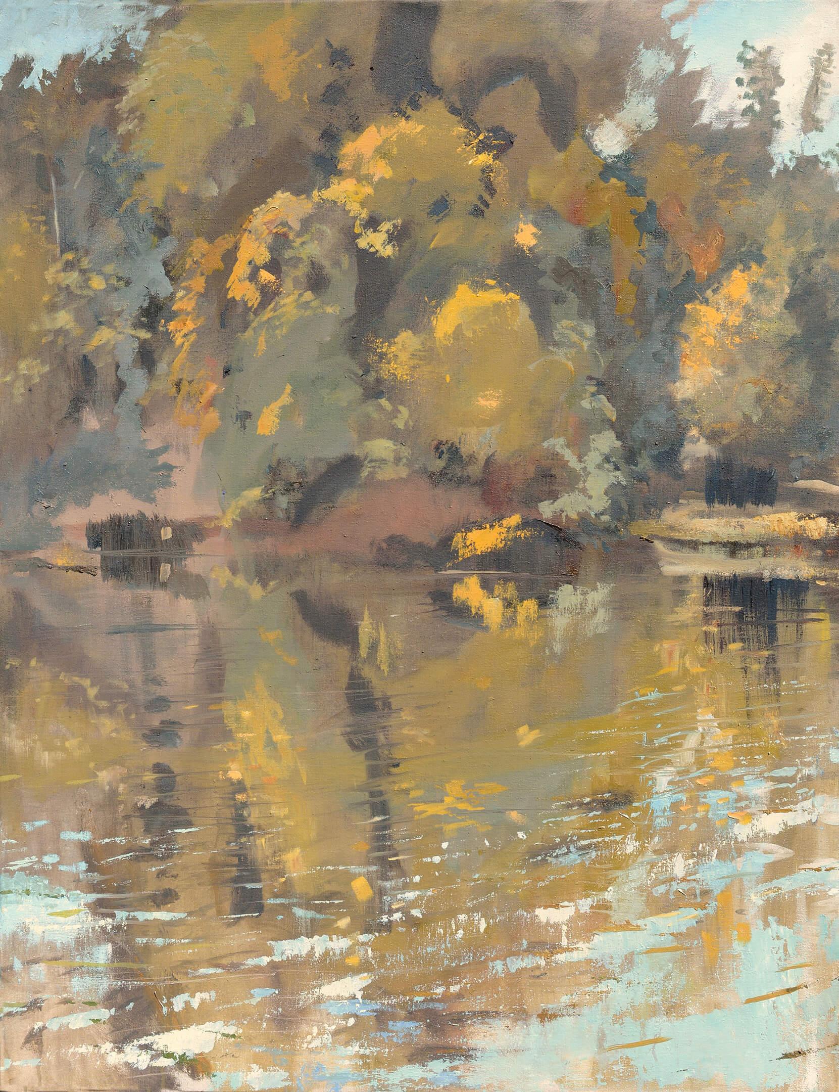 RHSK004 Matsubarako Lake Autumn ( Oil on Linen ) 110.5 x 85.5 cm
