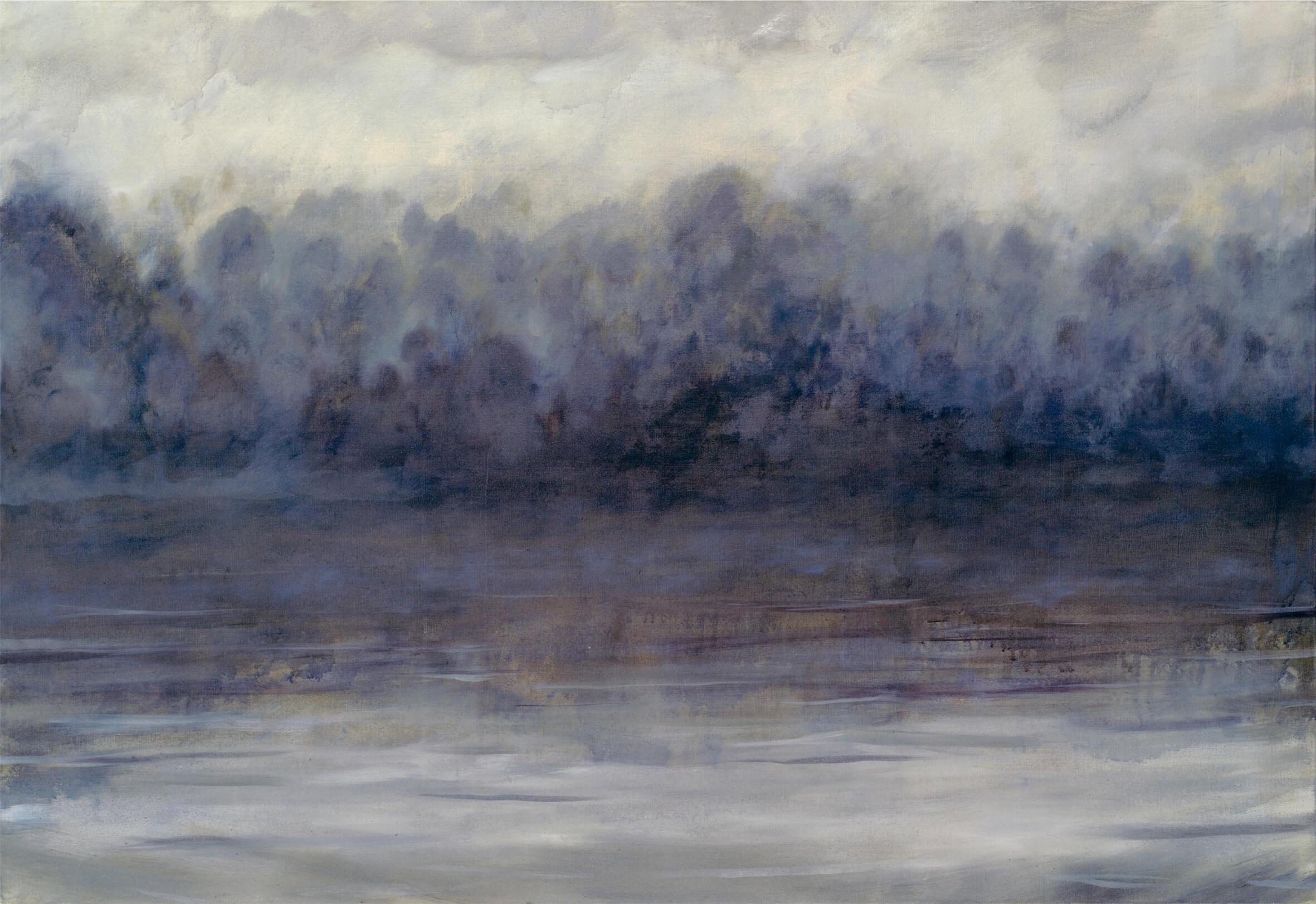RHSK013 Matsubarako Lake Winter Evening Mist ( Oil on Linen ) 112.5 x 162.5 cm