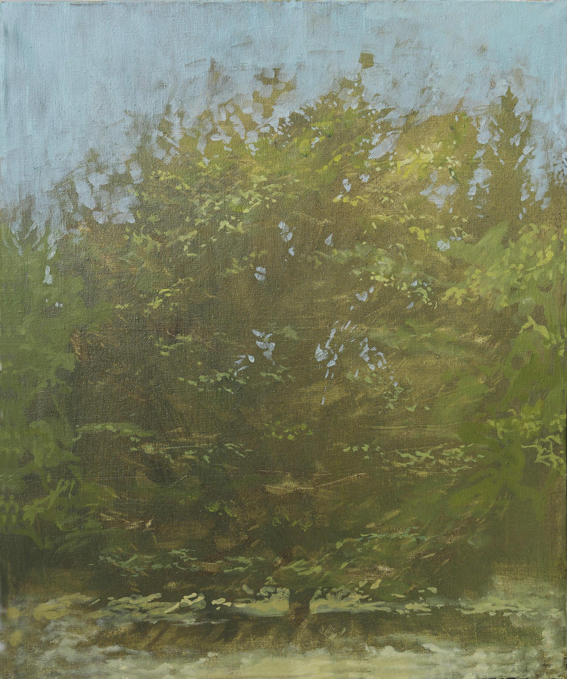 RHSK121 Summer Tree at dusk ( Oil on Linen ) 73 x 63.5 cm