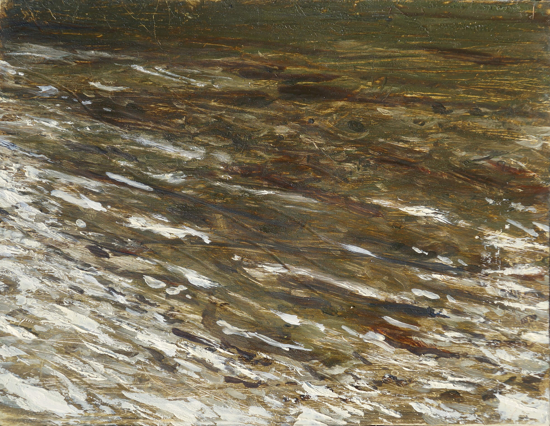 RHSK110 Matsubarako Lake Evening ( Oil on Panel ) 16 x 21 cm