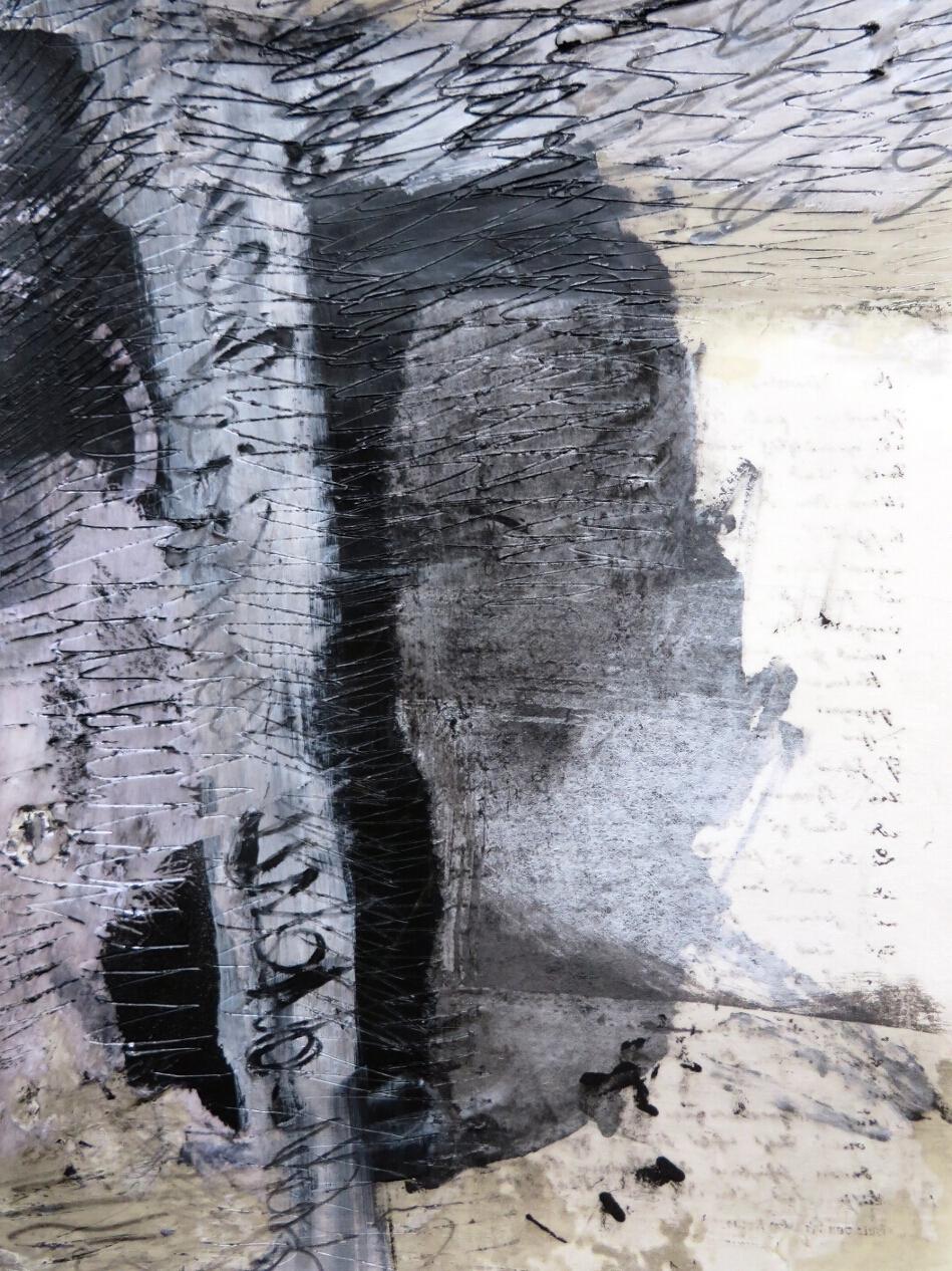 collage unter wachs