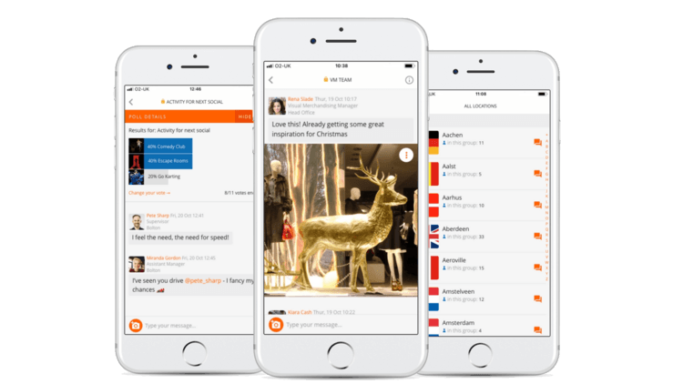 Workplace messaging app 1-1 group messaging