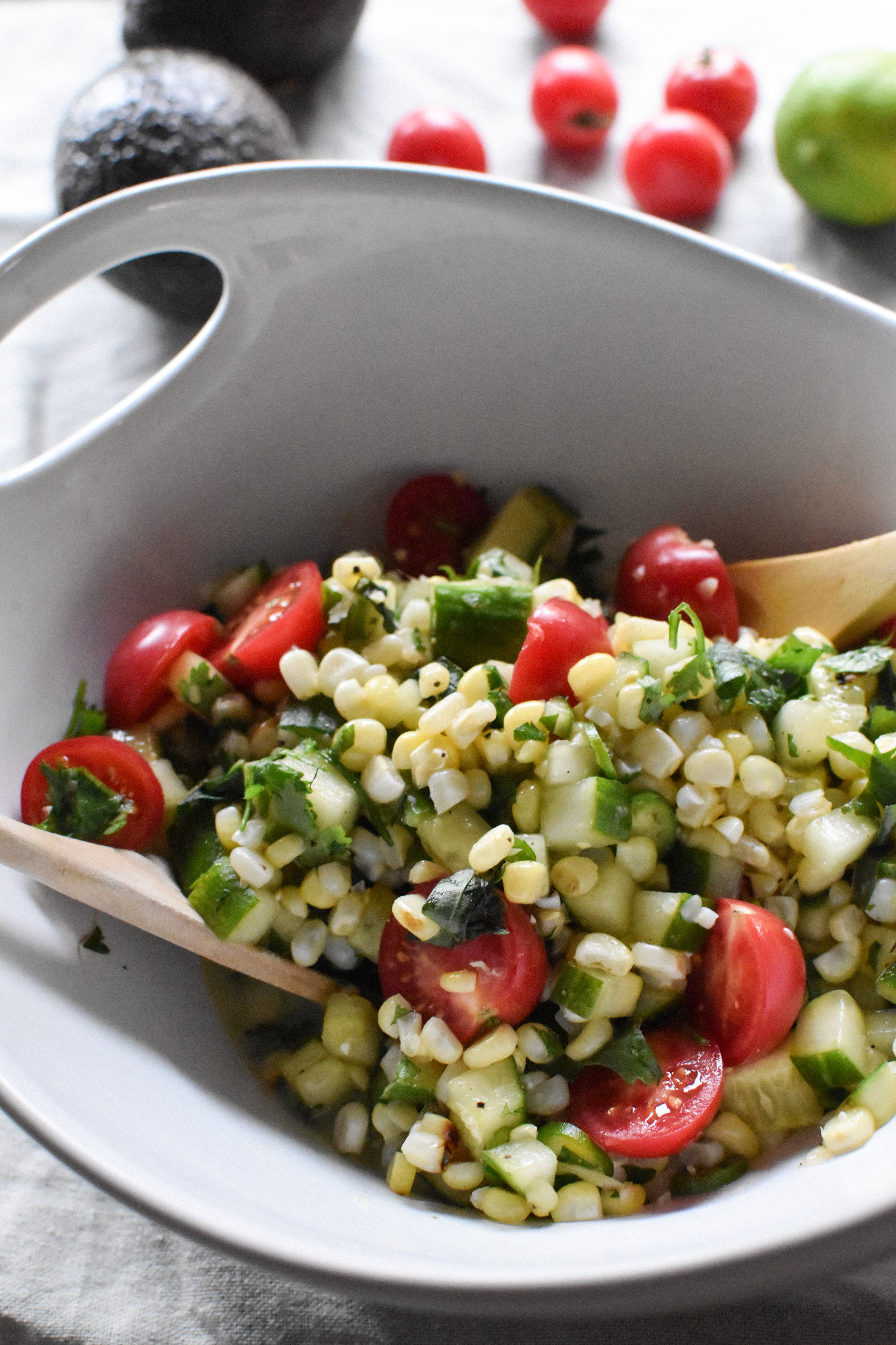 grilled corn summer salad - Make Mary