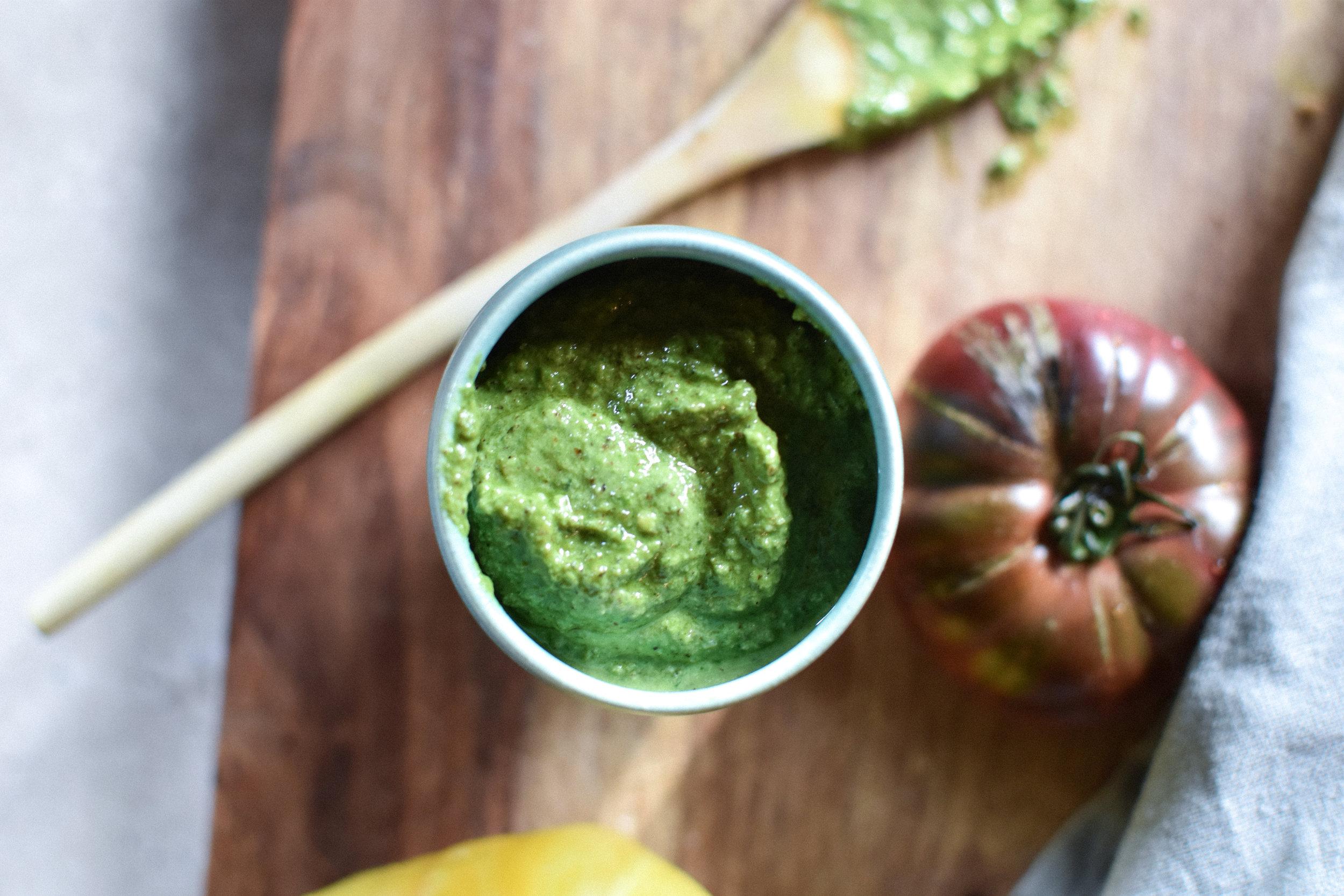 avocado toast with walnut pesto - Make Mary