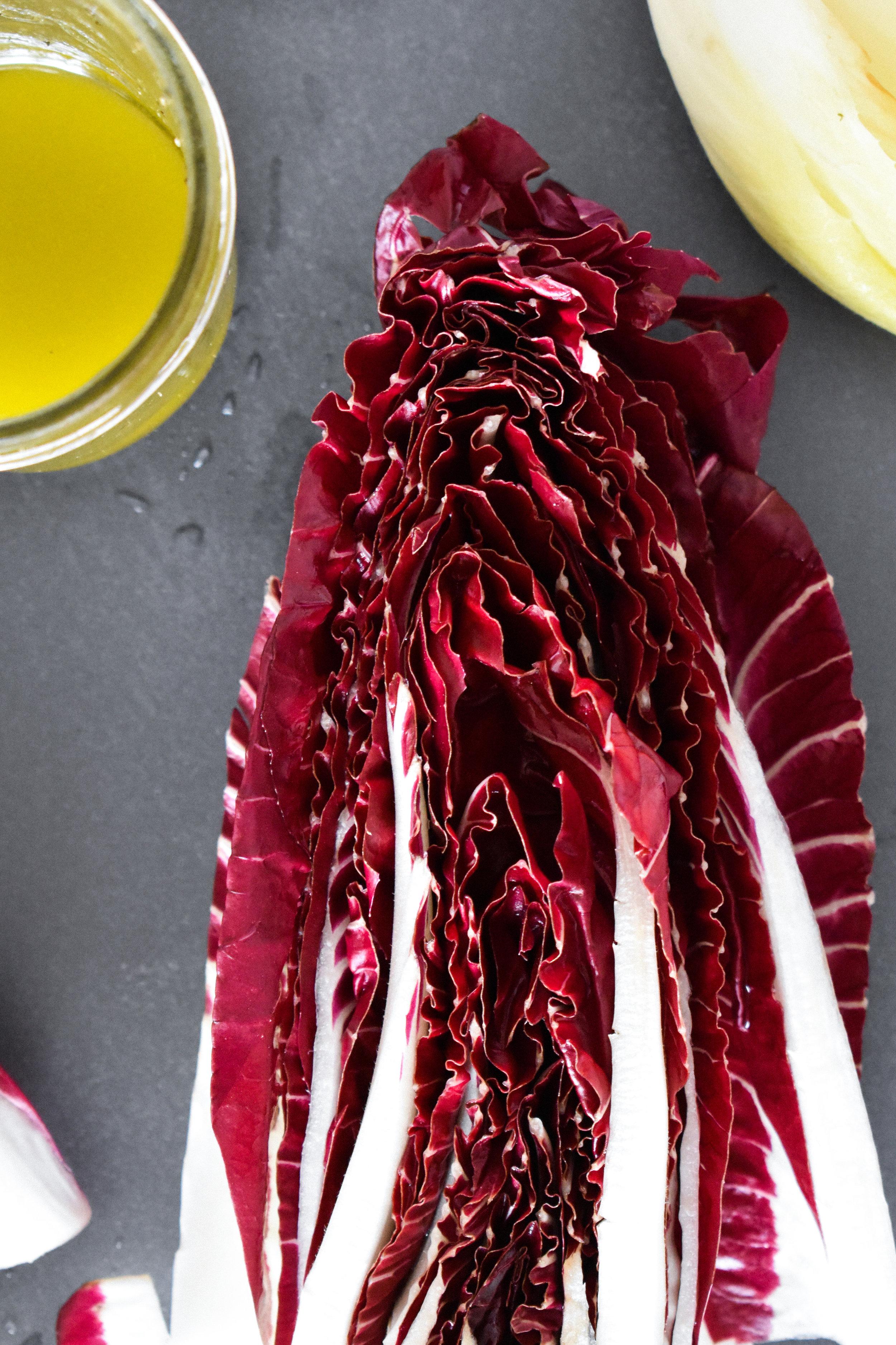 chicory salad with blood orange, apple & fennel