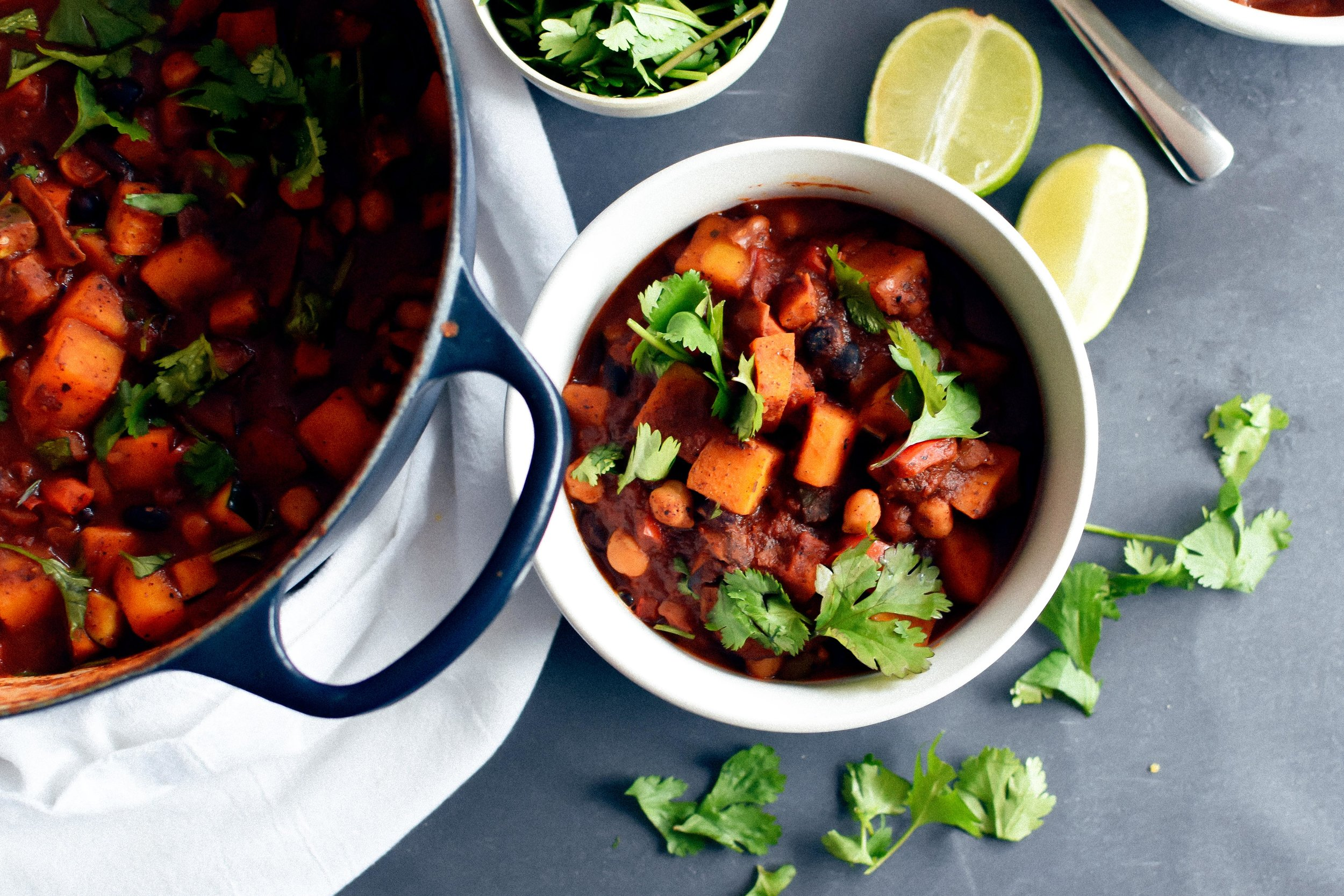 veggie chili with butternut squash