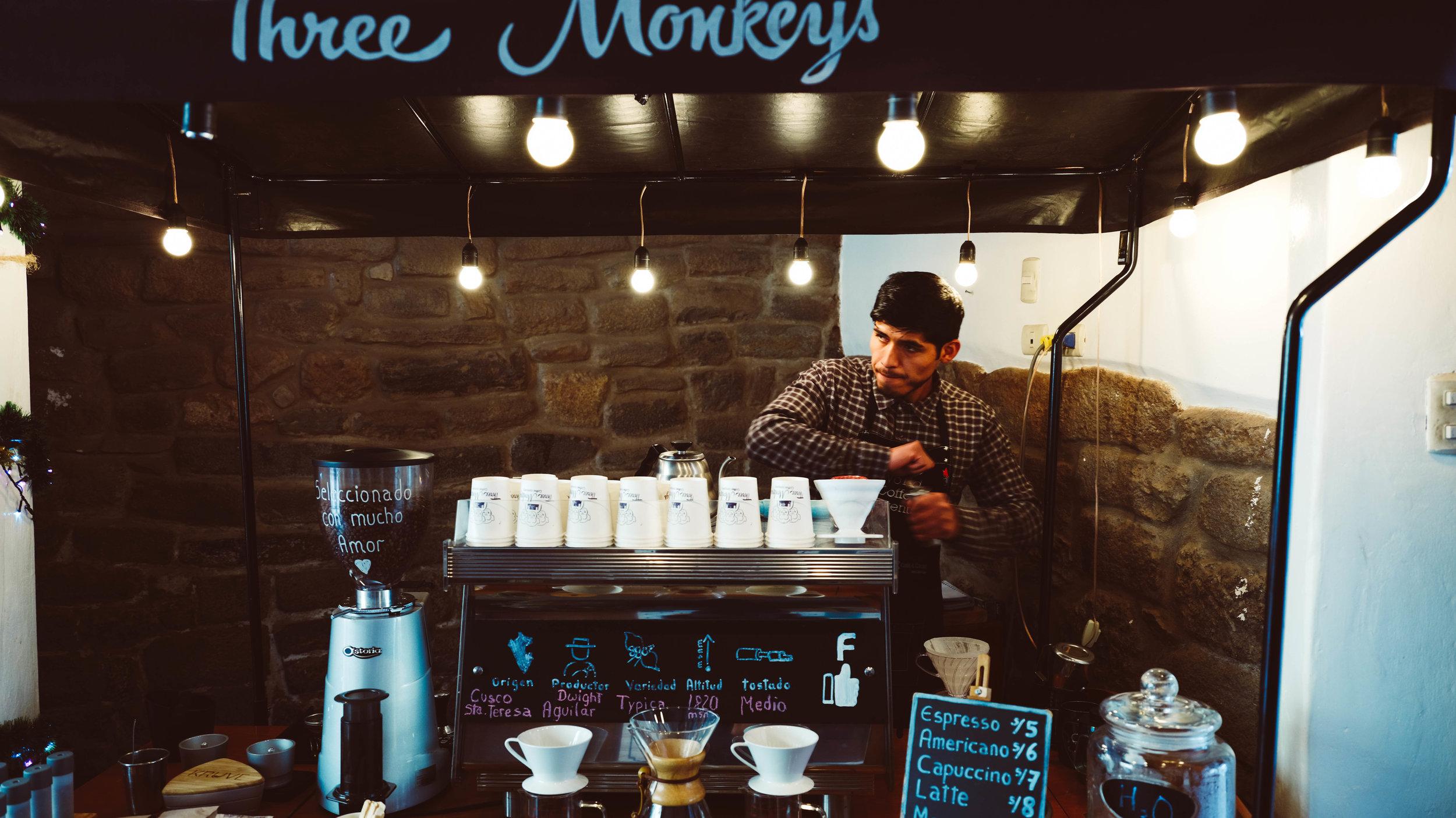 Coffee in Cuzco