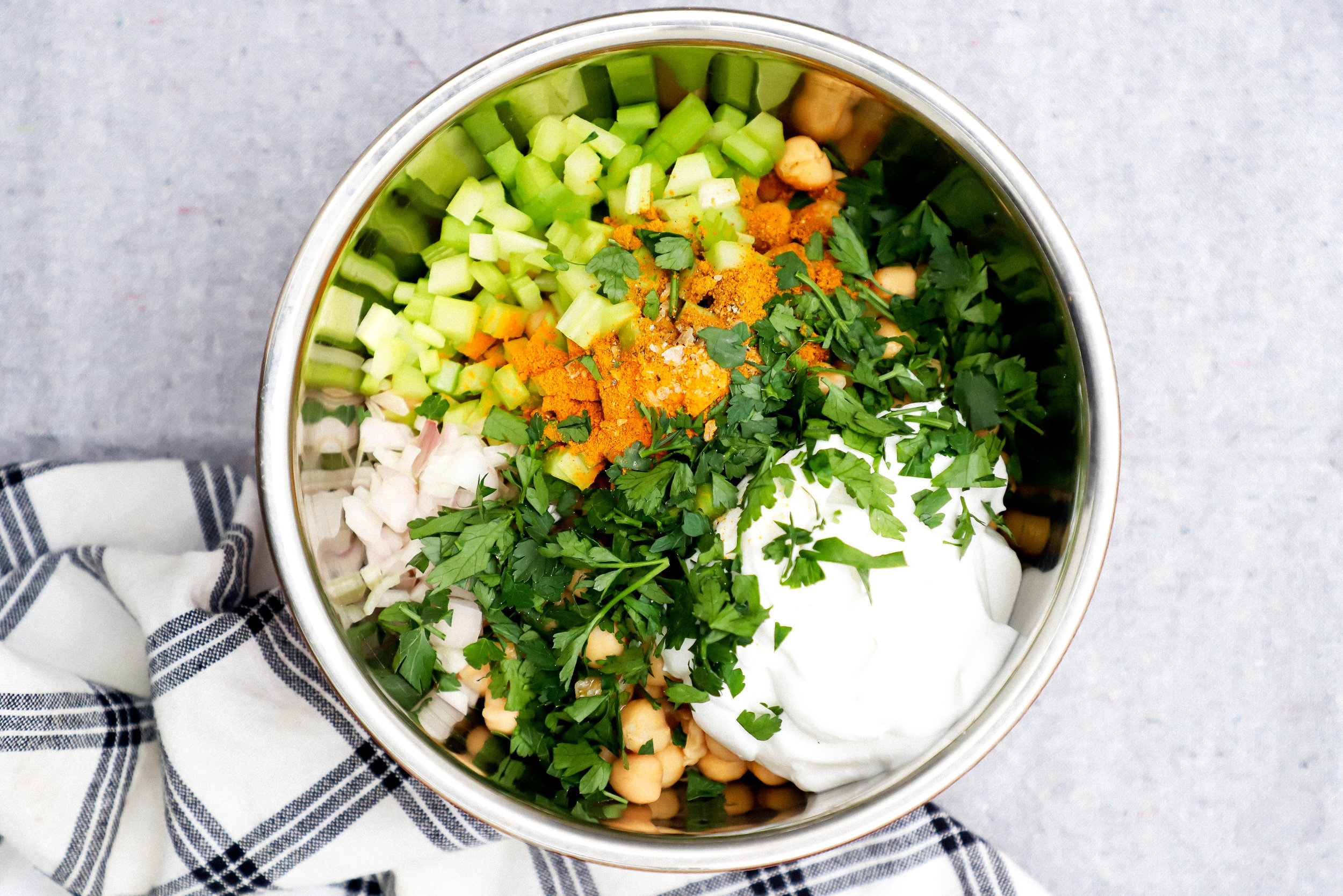 curried chickpea ingredients