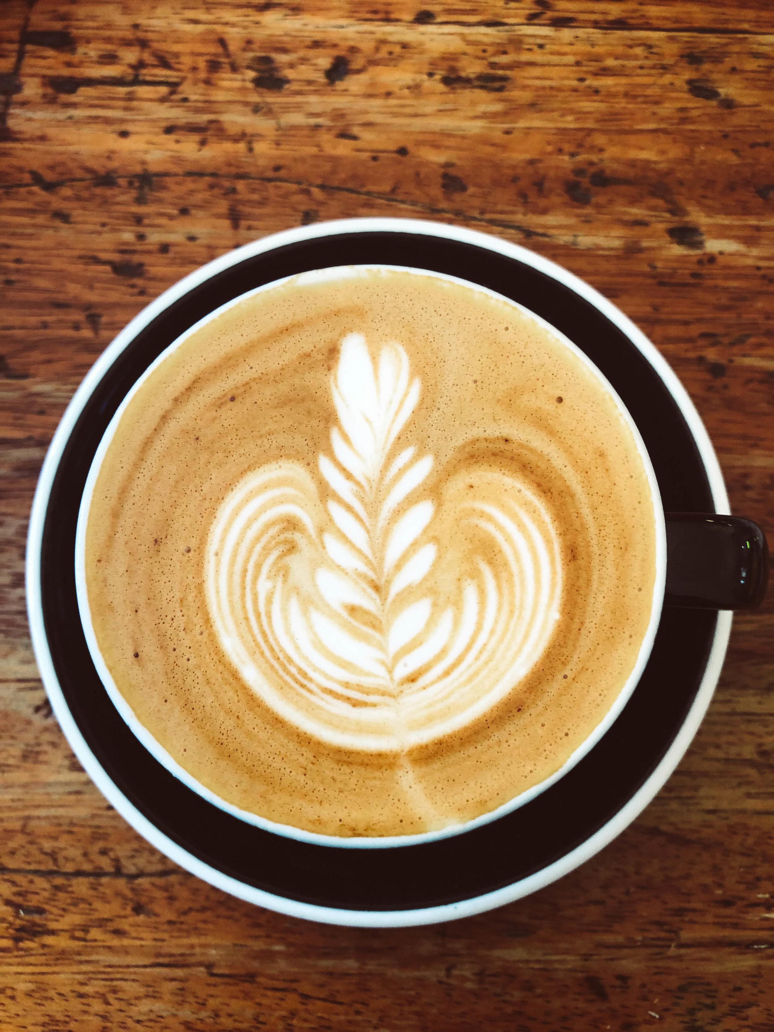 A flate white from Kaffeine in London