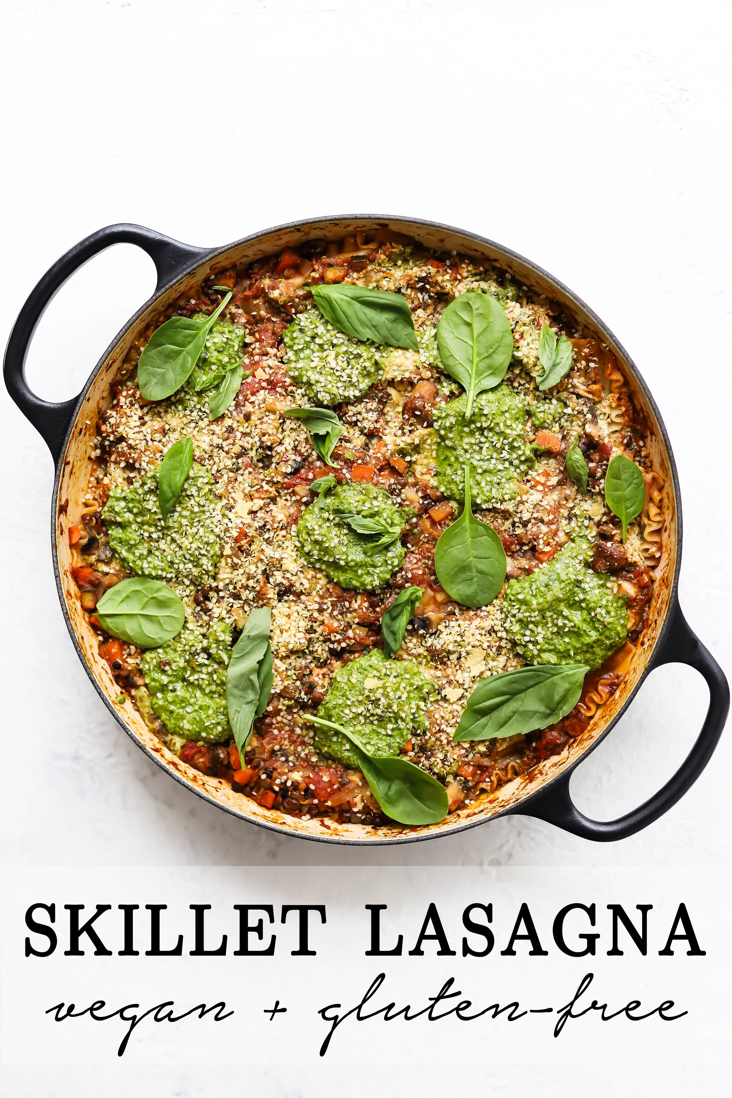 vegan and gluten-free skillet lasagna