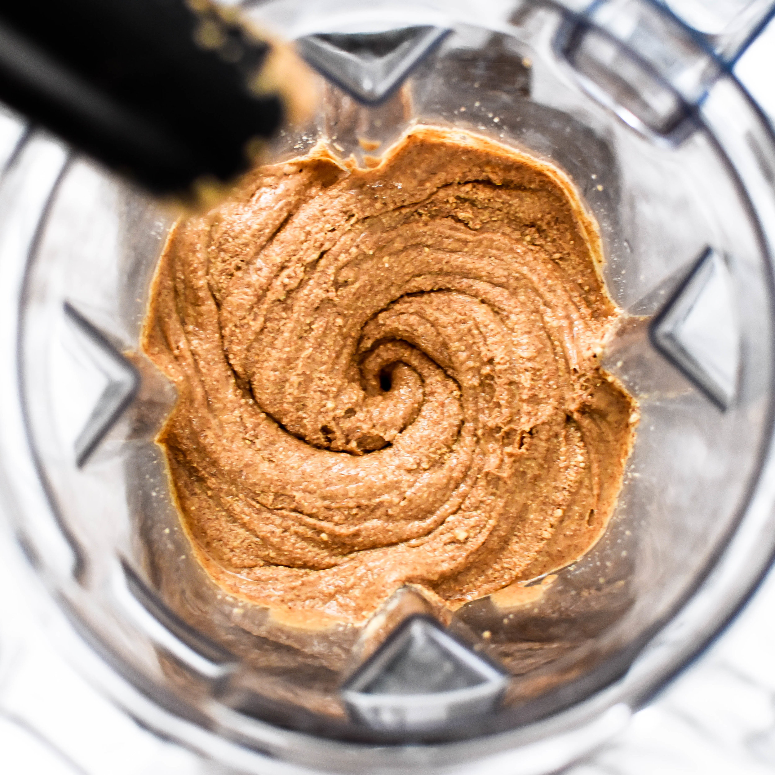 homemade almond butter in a Vitamix blender