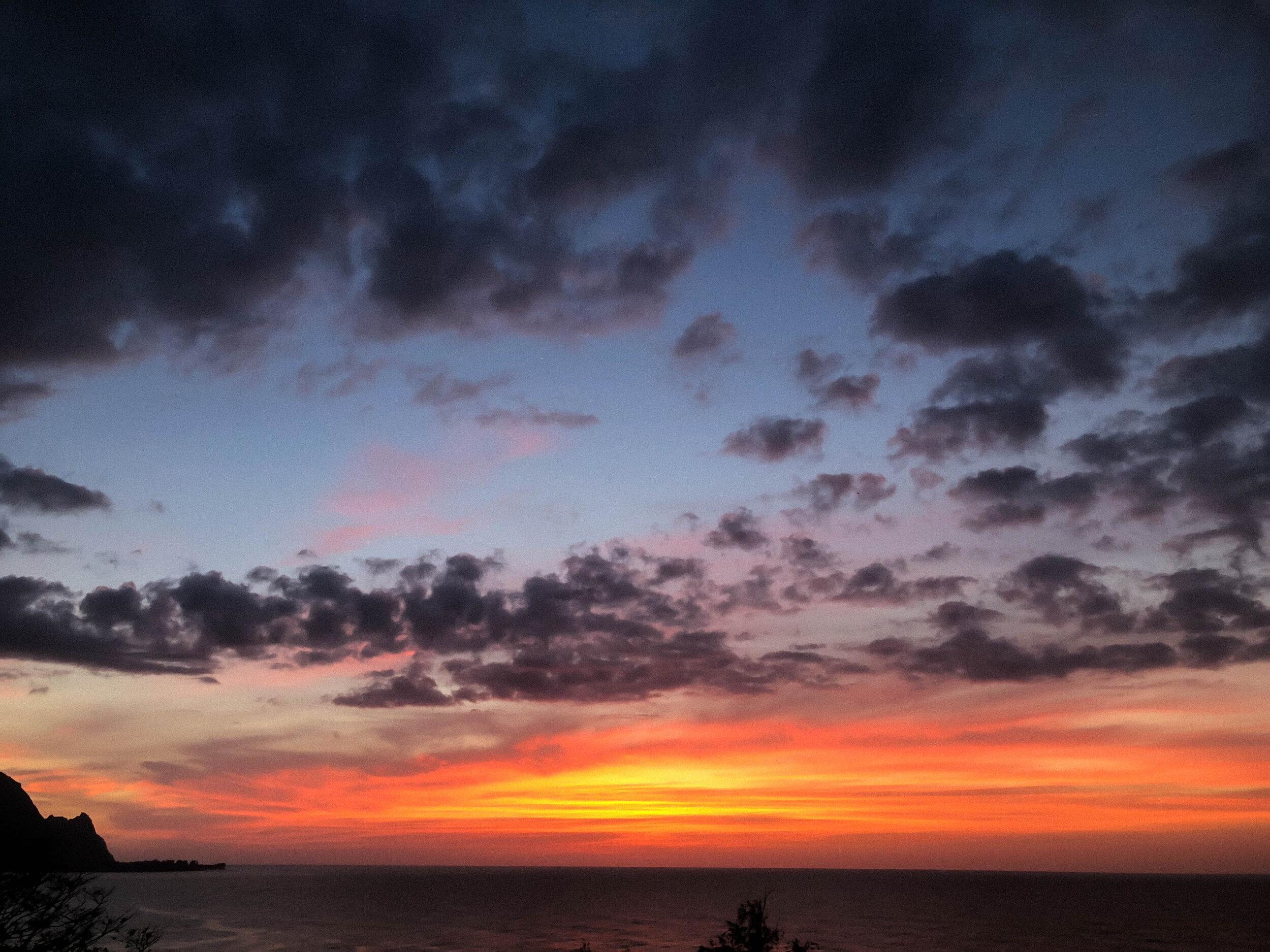 Sunset over Bali Hai