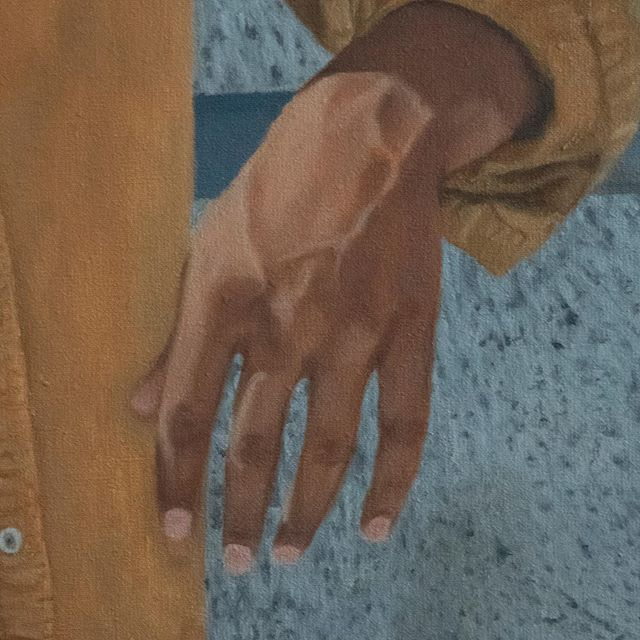 Painting hands. Love the veins. 😍🎨 (detail)