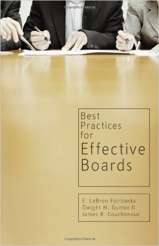 Best Practices for Effective Boards - Dr. Dwight M. Gunter, II