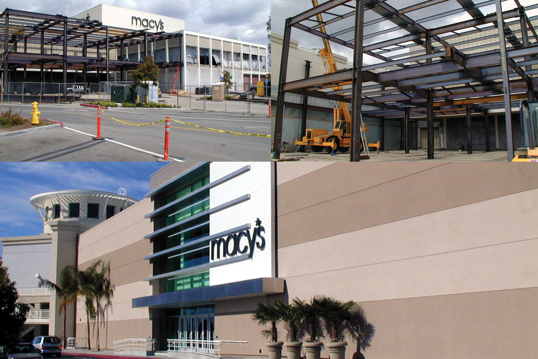 Macy's Pacific View Mall - Complete interior and exterior remodel of the occupied store including a 30,000 square foot expansion.
