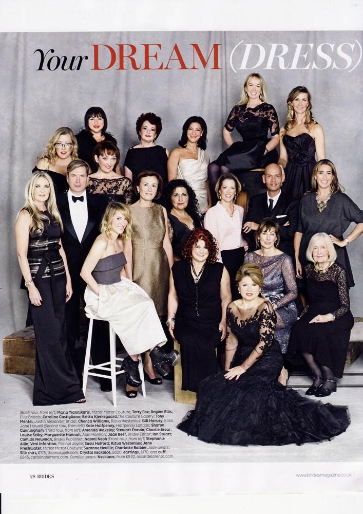Brides Magazine Jan/Feb 2015 - Designer Dream Team - 1/2