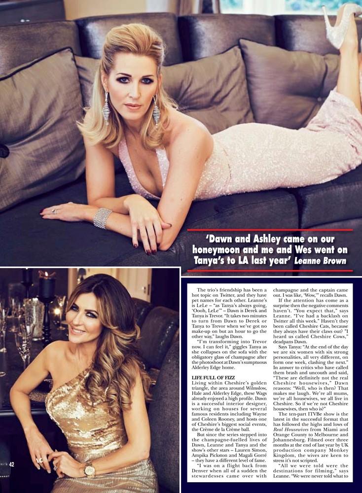 HELLO! Magazine February 2015 - Goldfire Gown - 1/2