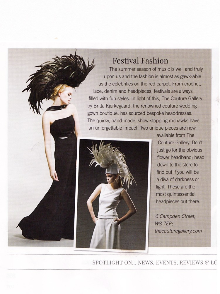 Notting Hill & Holland Park Magazine July 2014 - Couture Headpieces