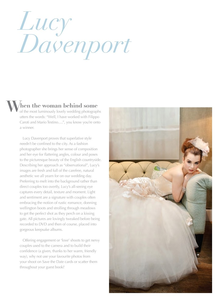 Quintessentially Weddings Guide 2012 - The Rosalyn Gown